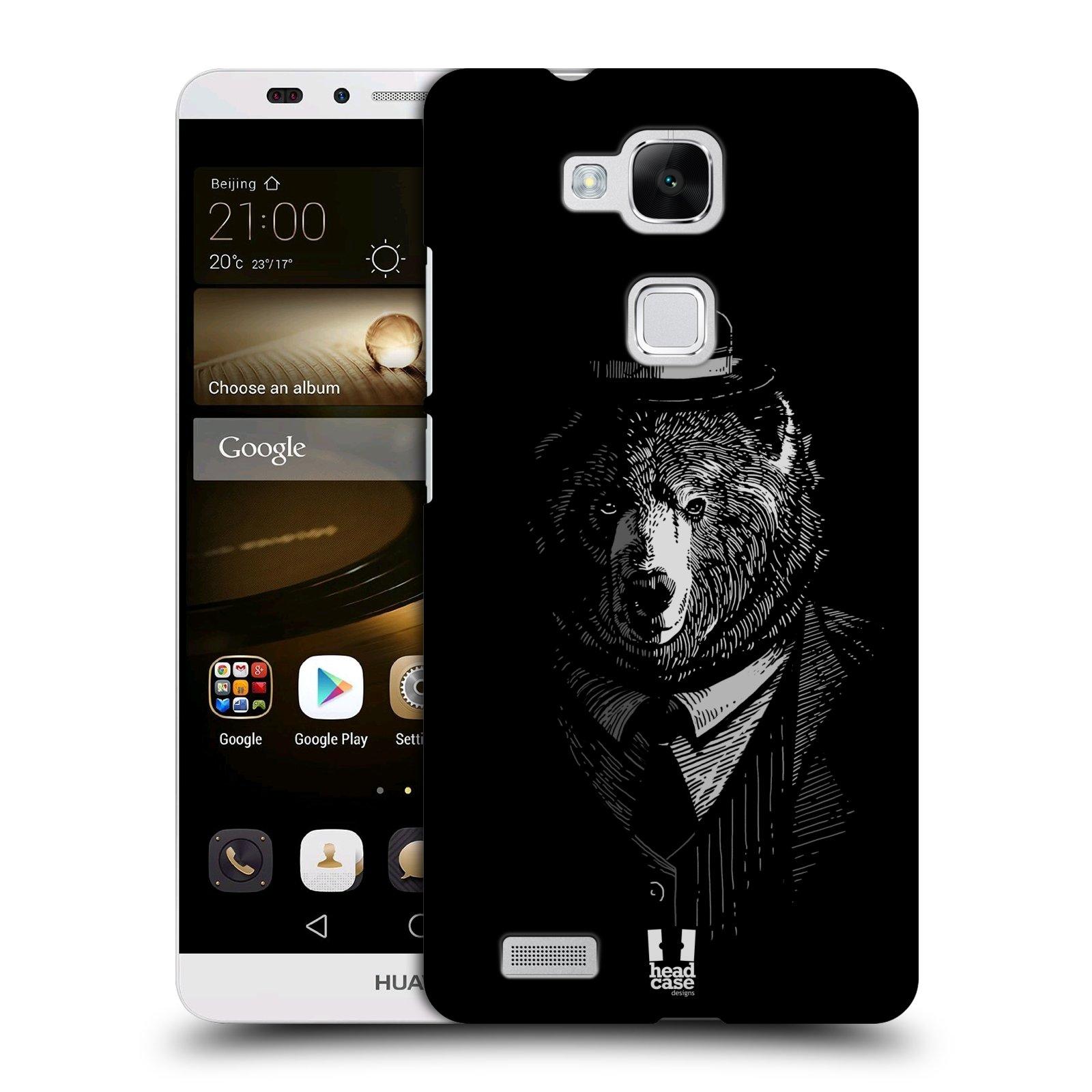 HEAD CASE plastový obal na mobil Huawei Mate 7 vzor Zvíře v obleku medvěd