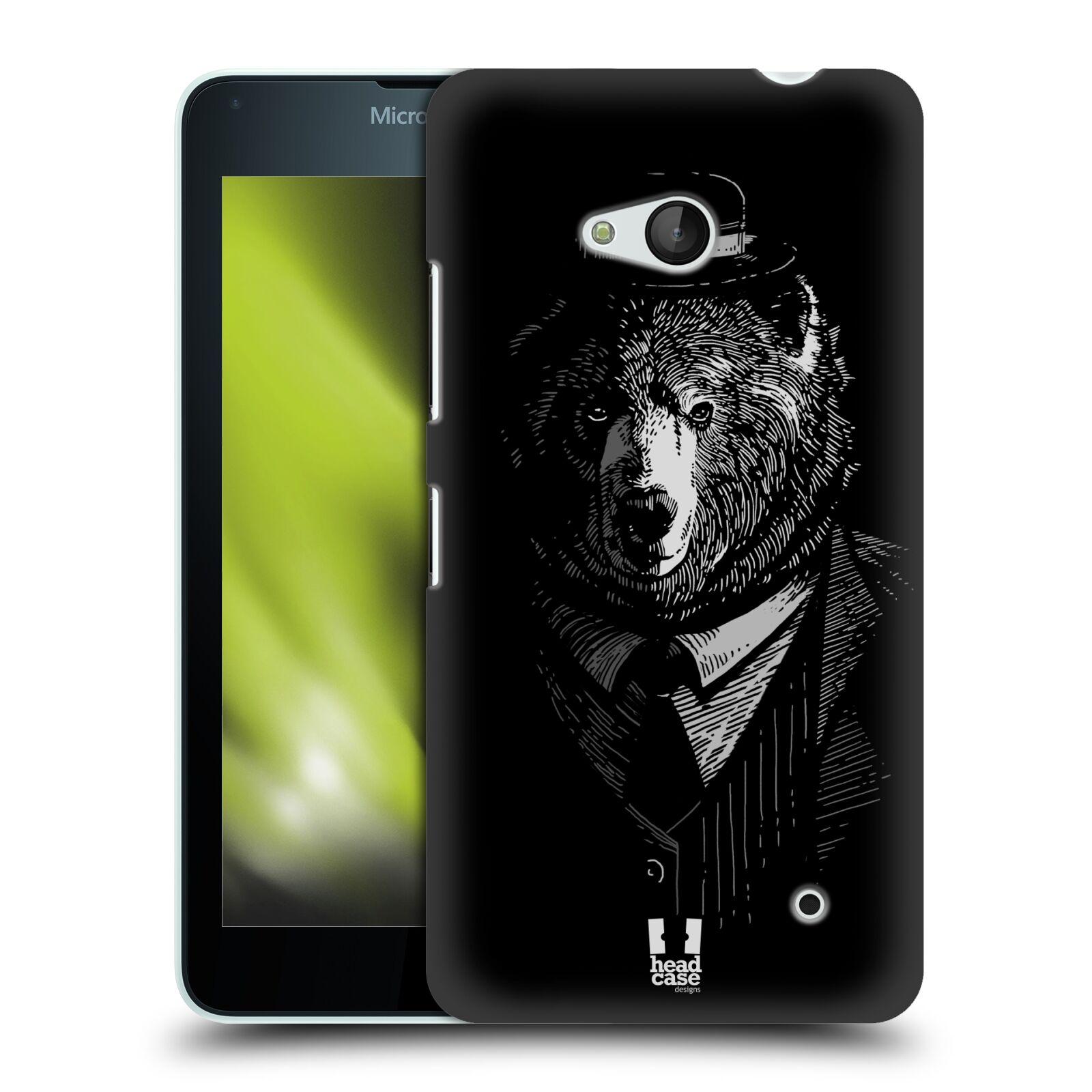 HEAD CASE plastový obal na mobil Nokia Lumia 640 vzor Zvíře v obleku medvěd