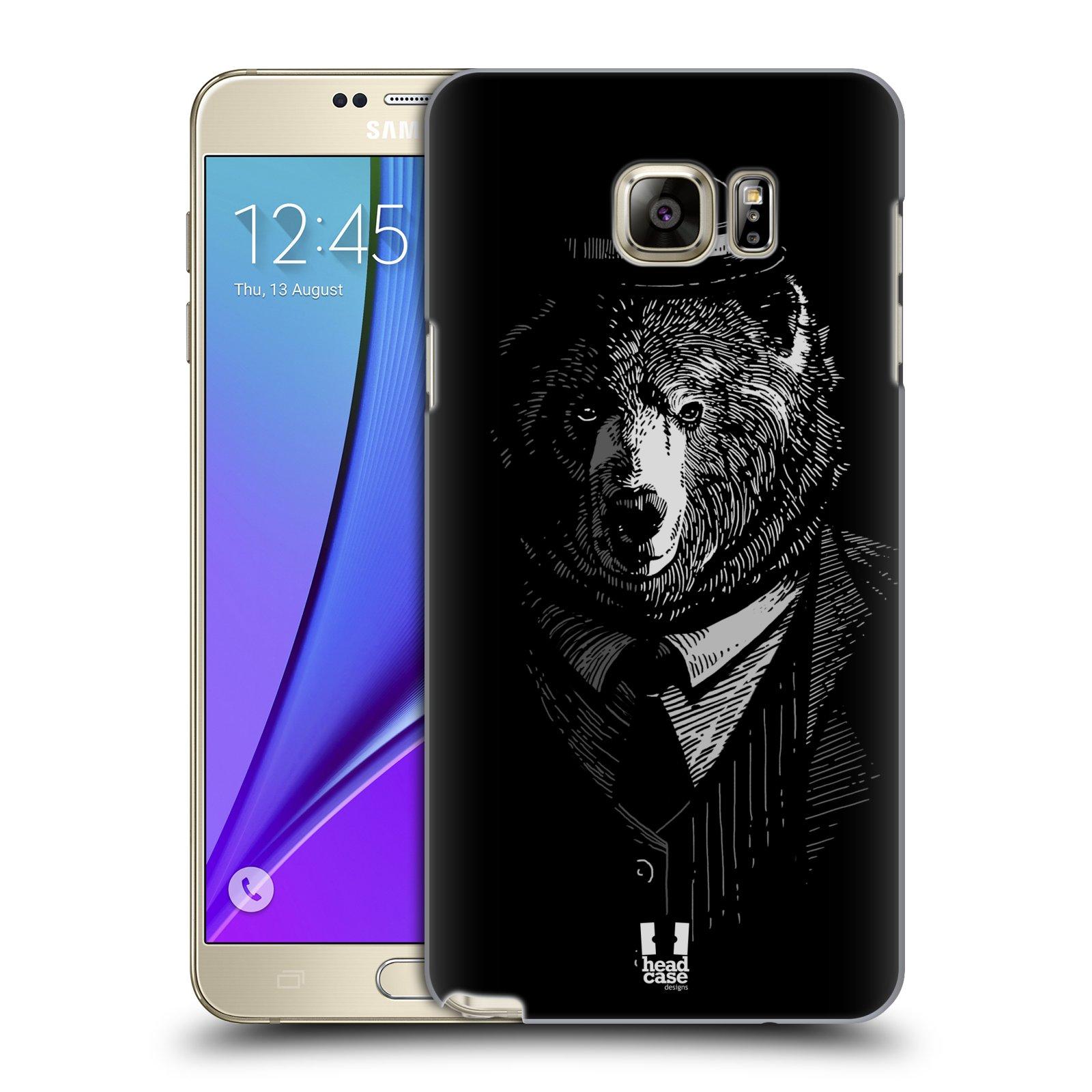 HEAD CASE plastový obal na mobil SAMSUNG Galaxy Note 5 (N920) vzor Zvíře v obleku medvěd
