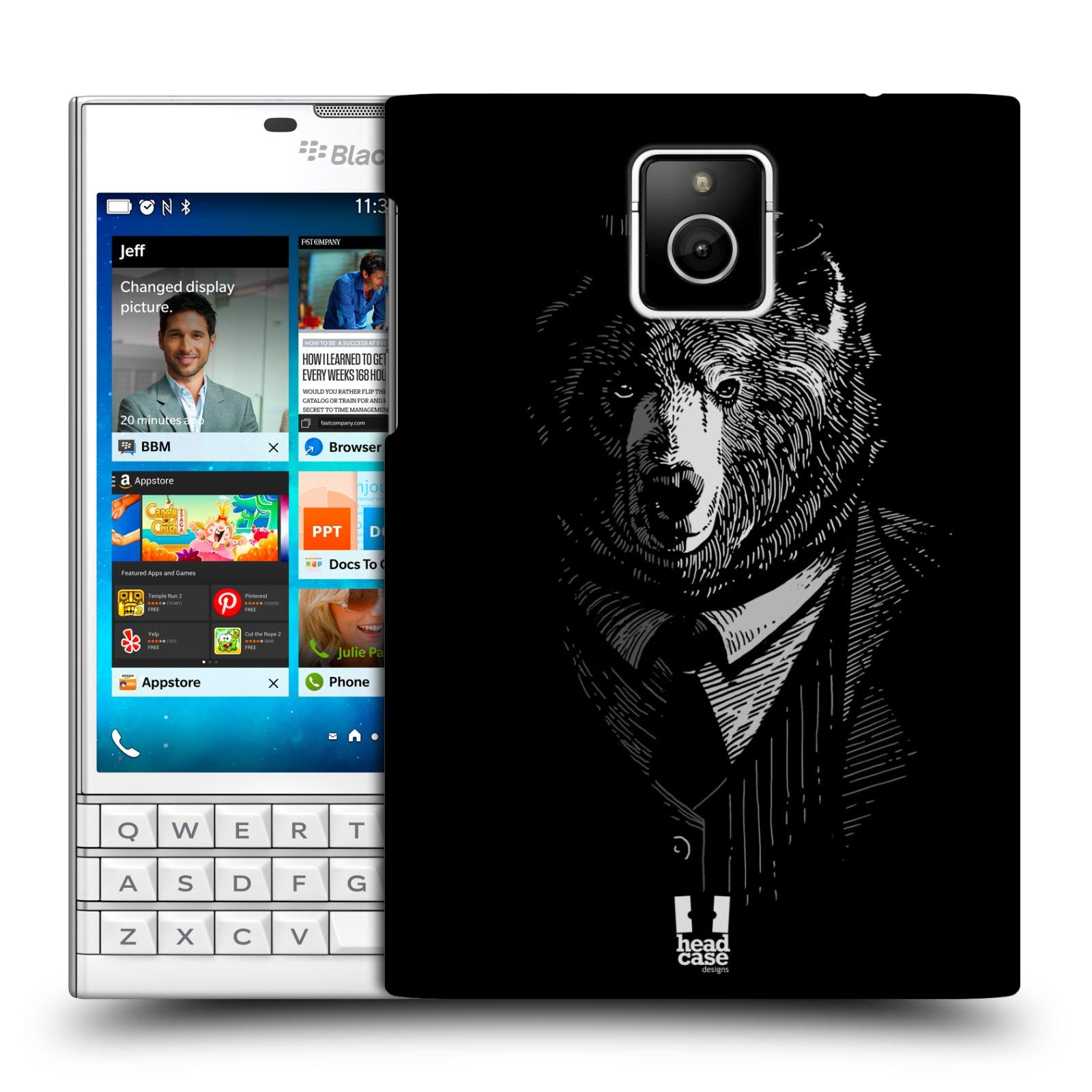 HEAD CASE plastový obal na mobil BlackBerry Passport vzor Zvíře v obleku medvěd