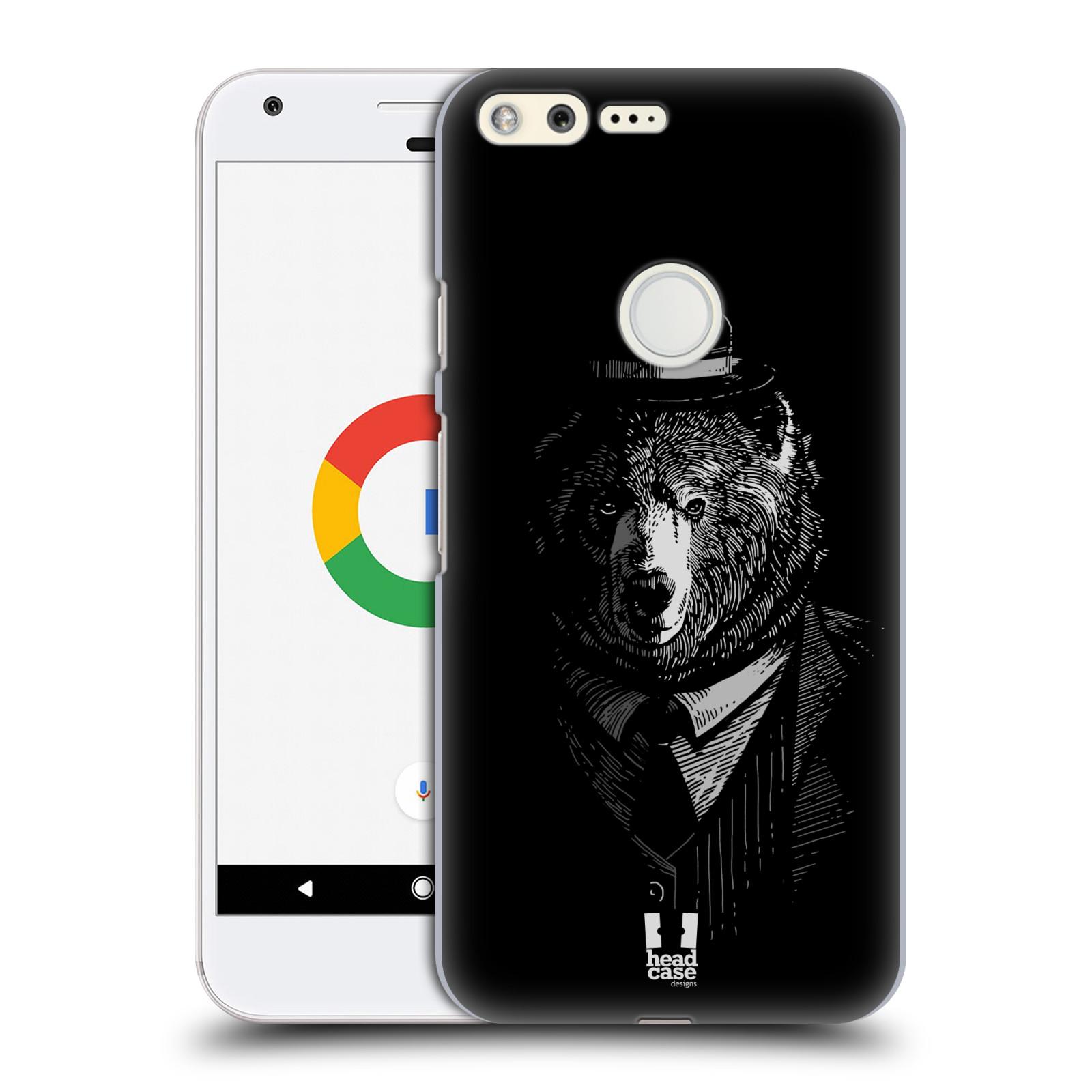 HEAD CASE plastový obal na mobil GOOGLE Pixel vzor Zvíře v obleku medvěd