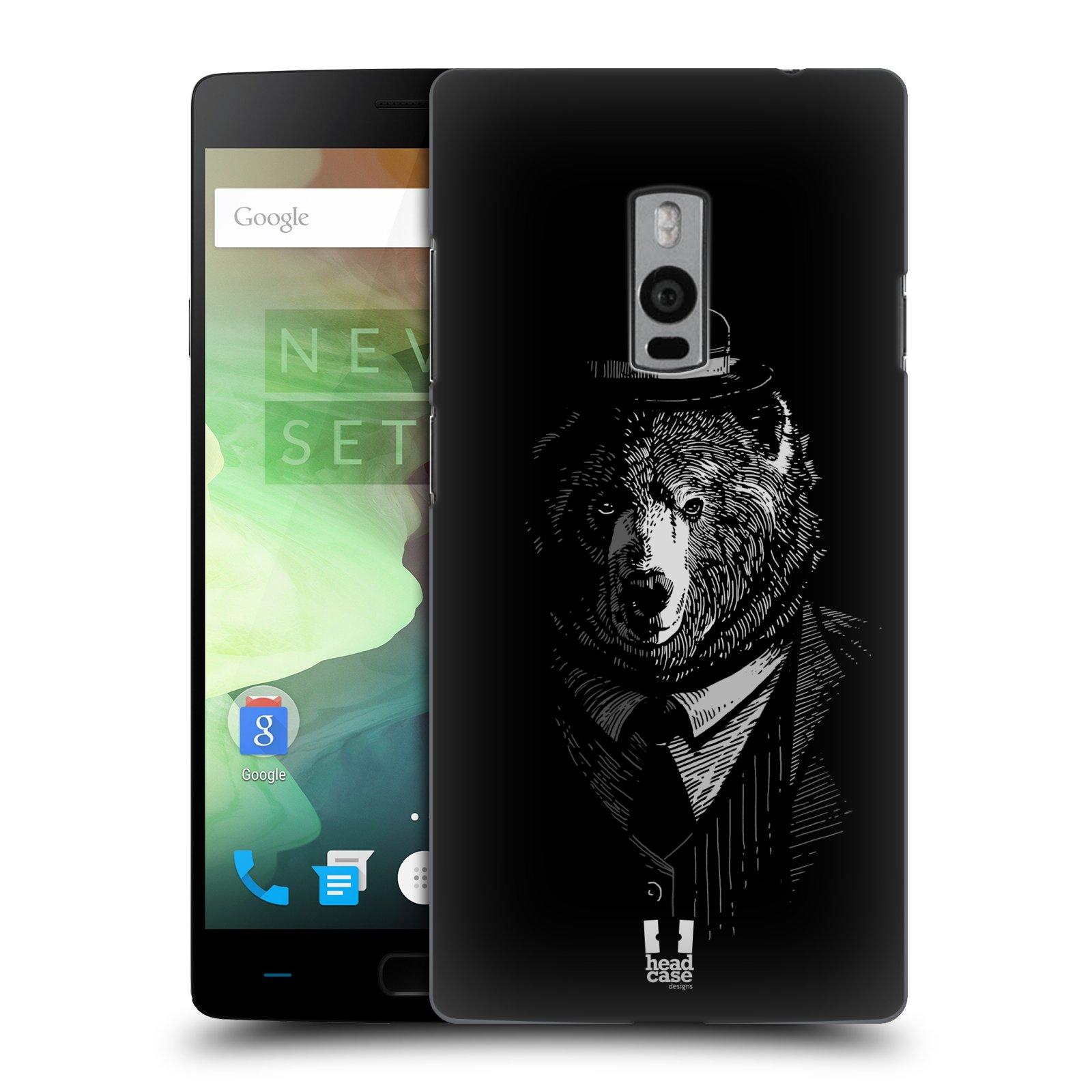 HEAD CASE pevný plastový obal na mobil OnePlus 2  ( TWO ) vzor Zvíře v obleku medvěd