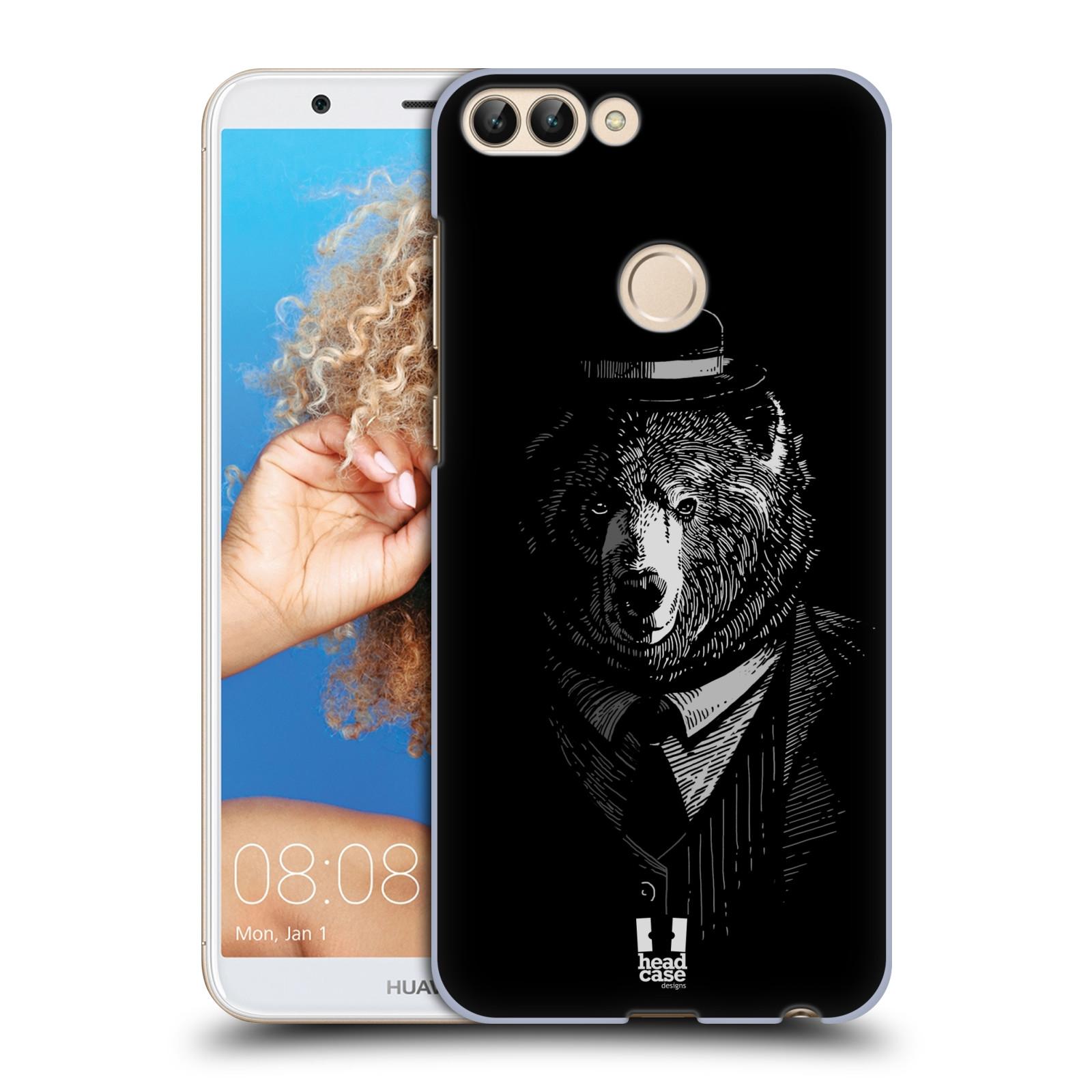 HEAD CASE plastový obal na mobil Huawei P Smart vzor Zvíře v obleku medvěd