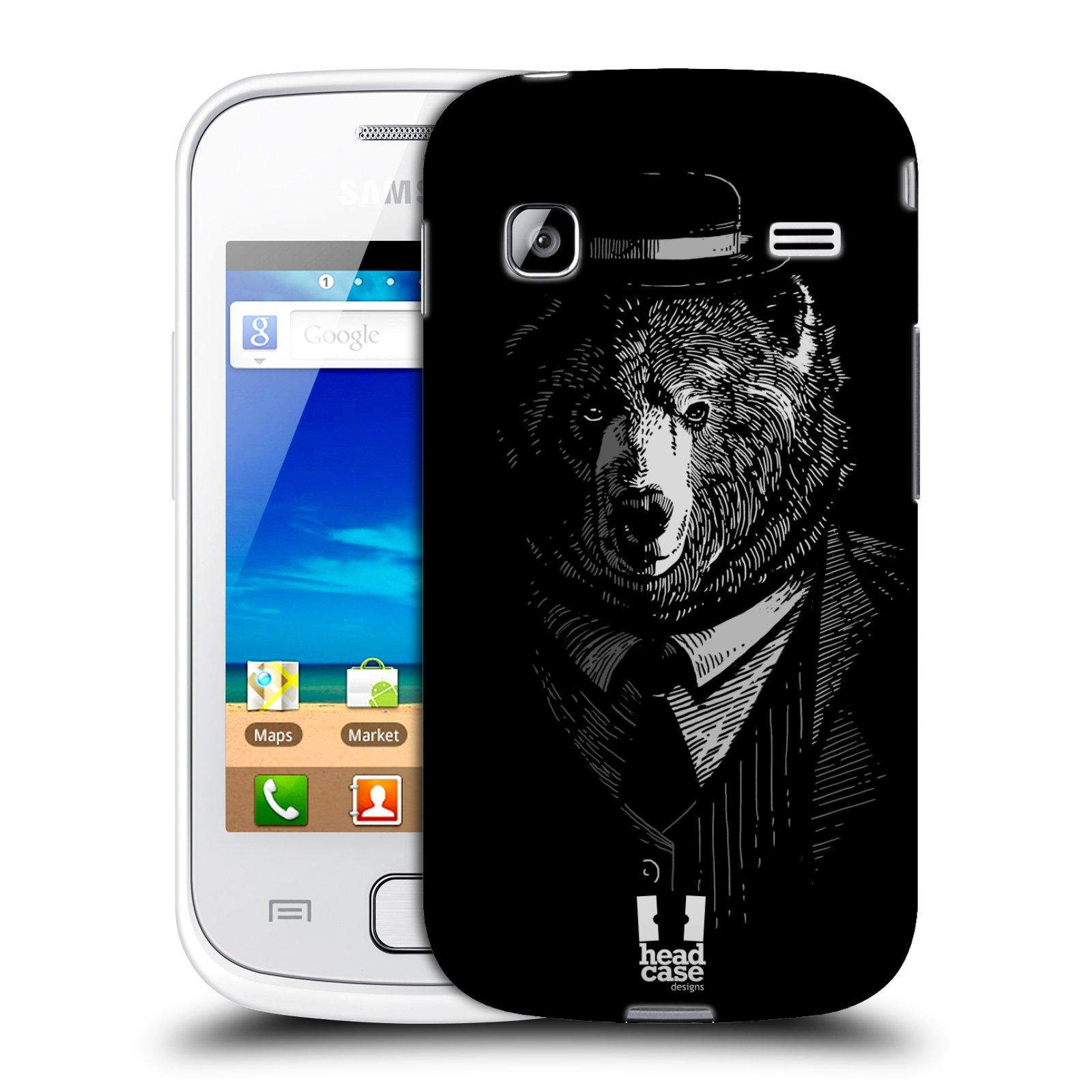 HEAD CASE plastový obal na mobil SAMSUNG GALAXY GIO (S5660) vzor Zvíře v obleku medvěd
