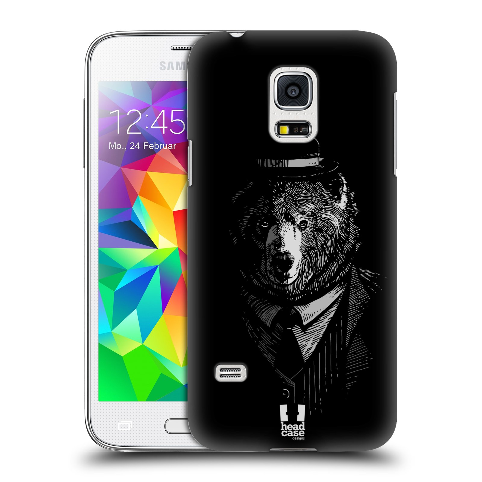 HEAD CASE plastový obal na mobil SAMSUNG Galaxy S5 MINI / S5 MINI DUOS vzor Zvíře v obleku medvěd