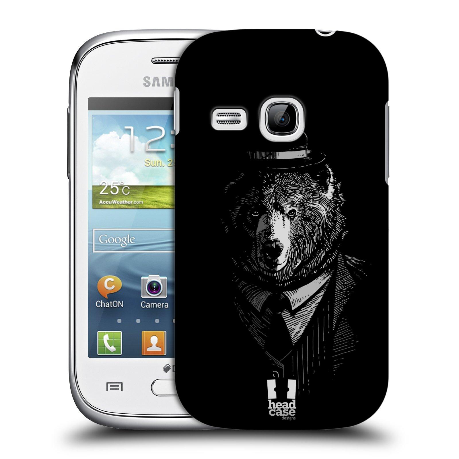 HEAD CASE plastový obal na mobil SAMSUNG Galaxy Young S6310 vzor Zvíře v obleku medvěd
