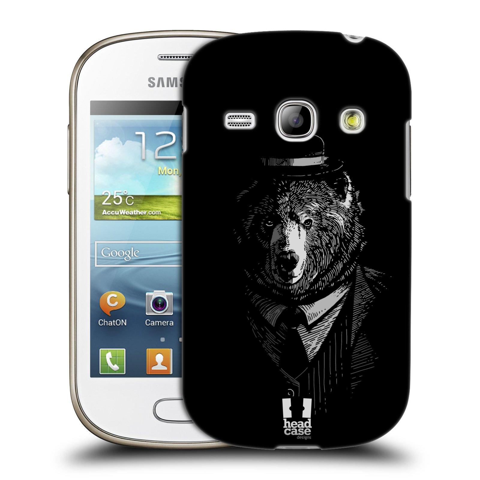 HEAD CASE plastový obal na mobil SAMSUNG GALAXY FAME (S6810) vzor Zvíře v obleku medvěd