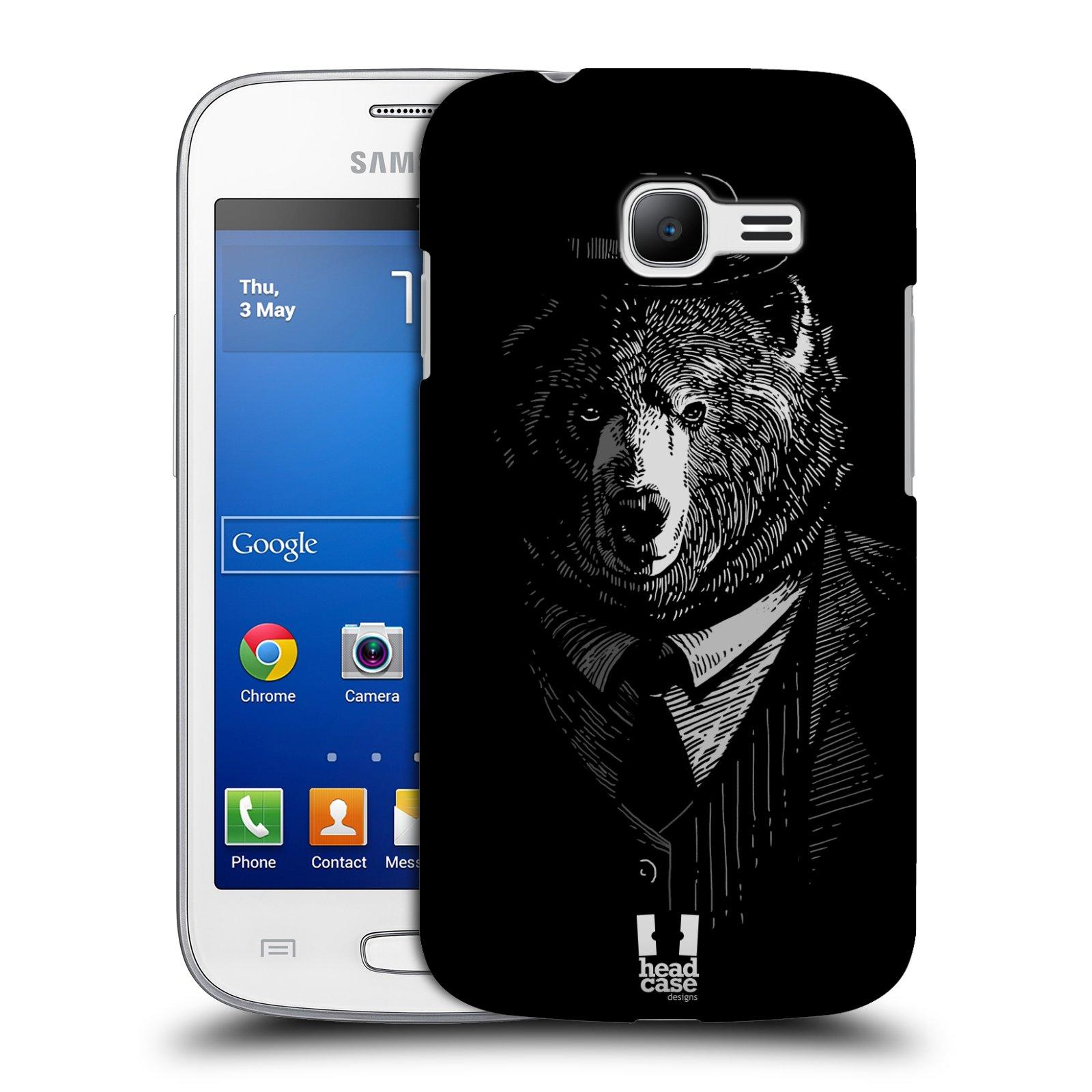 HEAD CASE plastový obal na mobil SAMSUNG GALAXY Star Pro S7260/S7262 DUOS vzor Zvíře v obleku medvěd