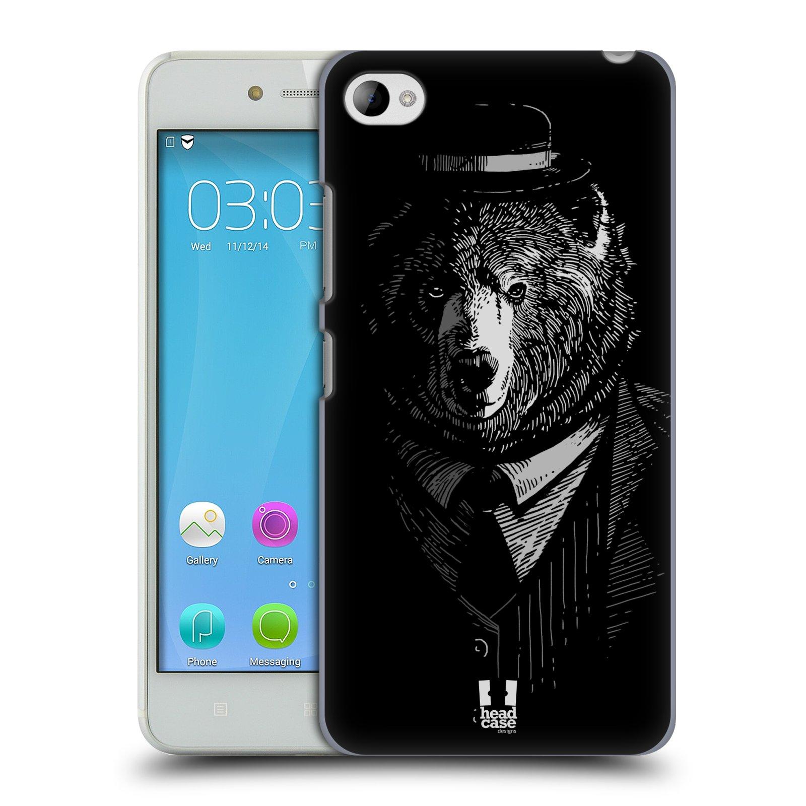 HEAD CASE pevný plastový obal na mobil LENOVO S90 vzor Zvíře v obleku medvěd