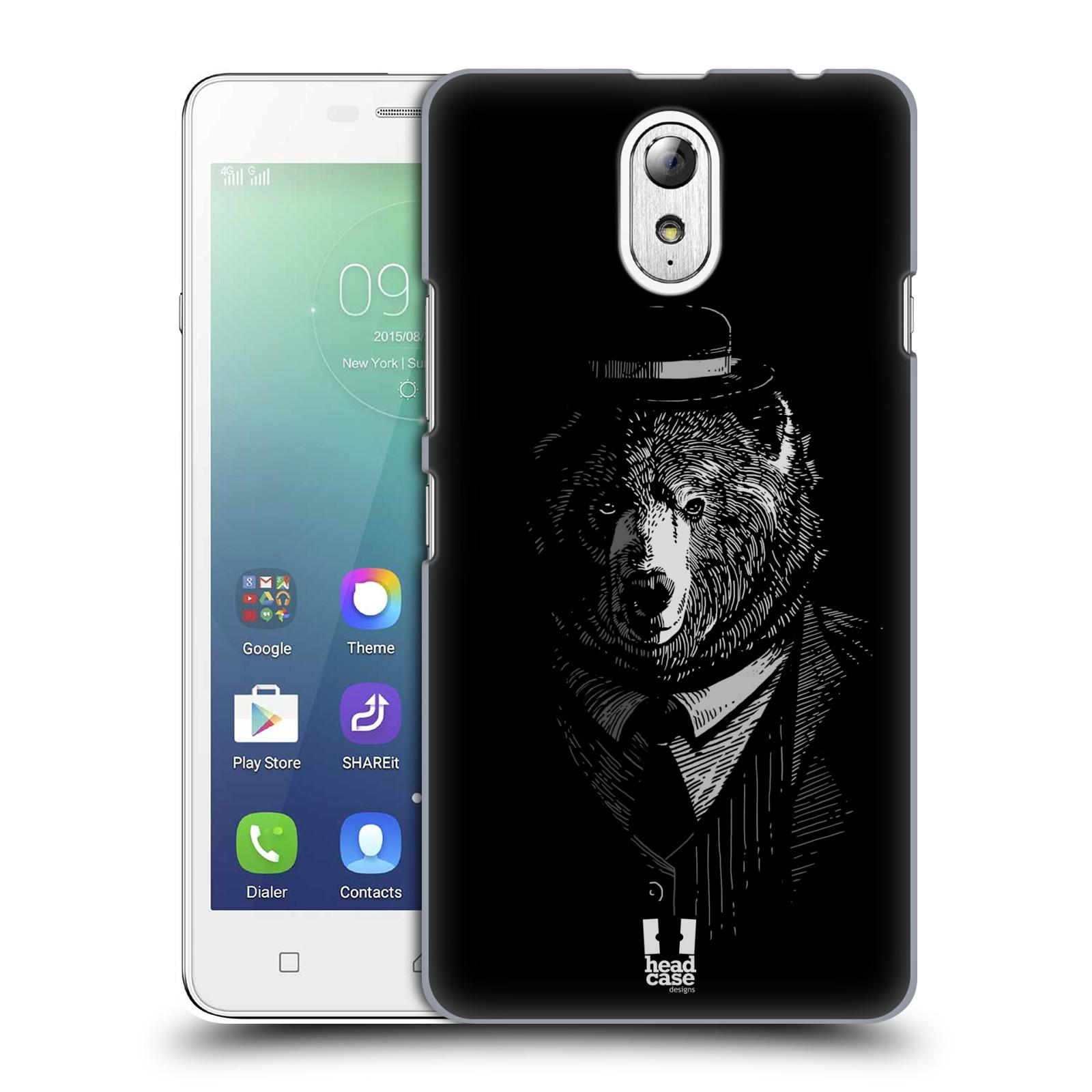 HEAD CASE pevný plastový obal na mobil LENOVO VIBE P1m / LENOVO VIBE p1m DUAL SIM vzor Zvíře v obleku medvěd