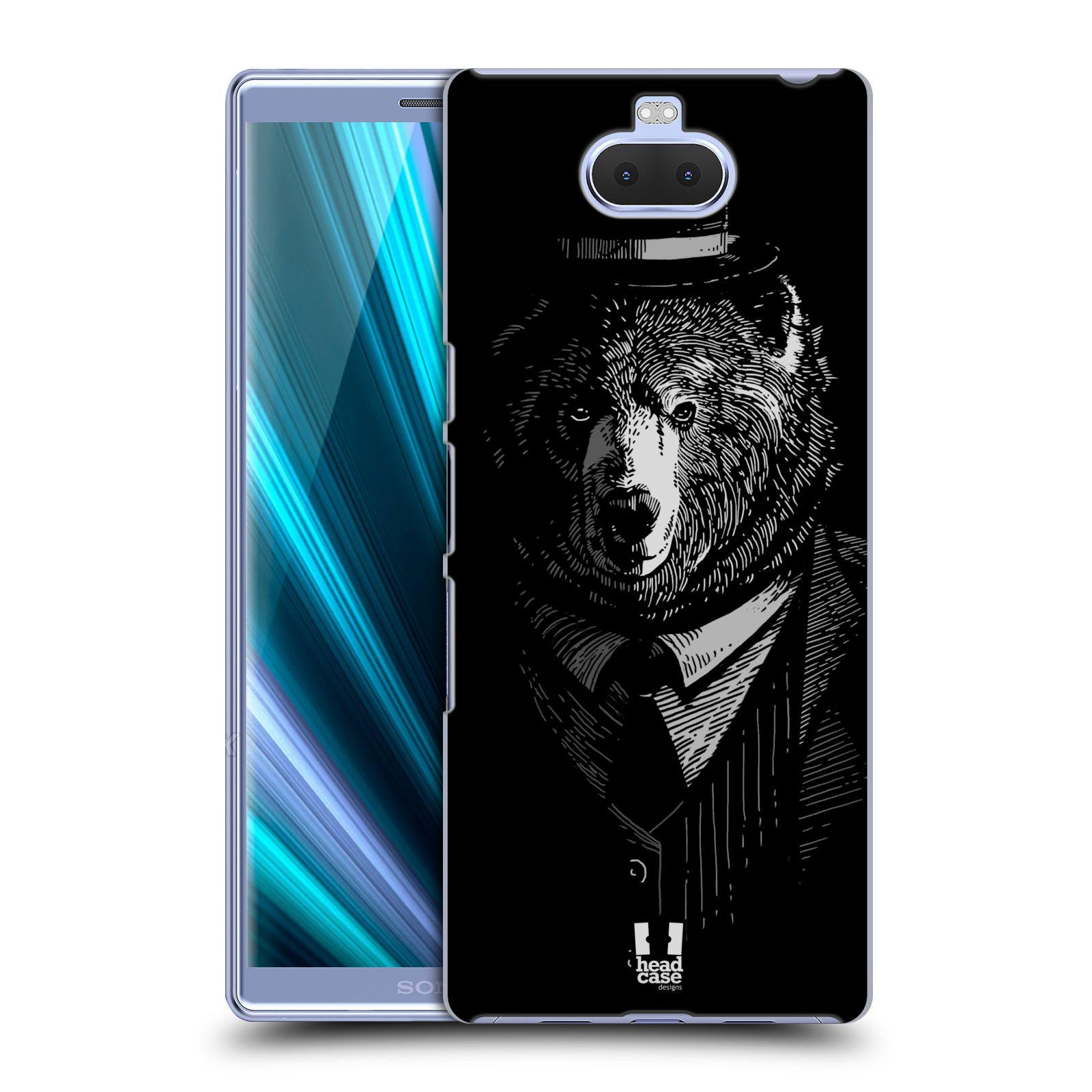 Pouzdro na mobil Sony Xperia 10 - Head Case - vzor Zvíře v obleku medvěd