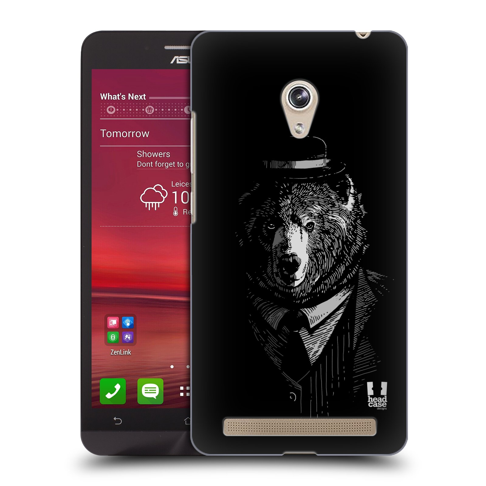 HEAD CASE plastový obal na mobil Asus Zenfone 6 vzor Zvíře v obleku medvěd