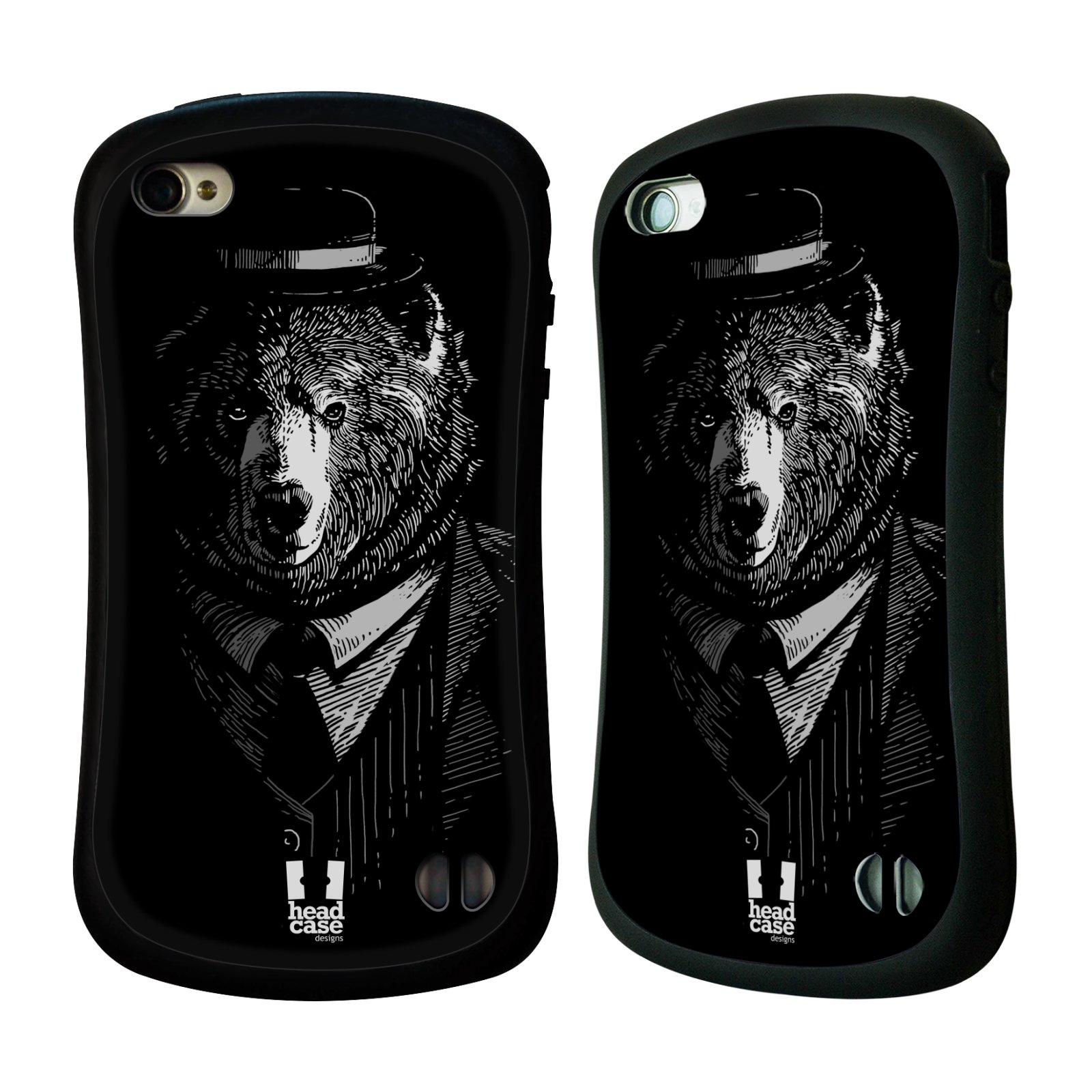 HEAD CASE silikon/plast odolný obal na mobil Apple Iphone 4/4S vzor Zvíře v obleku medvěd