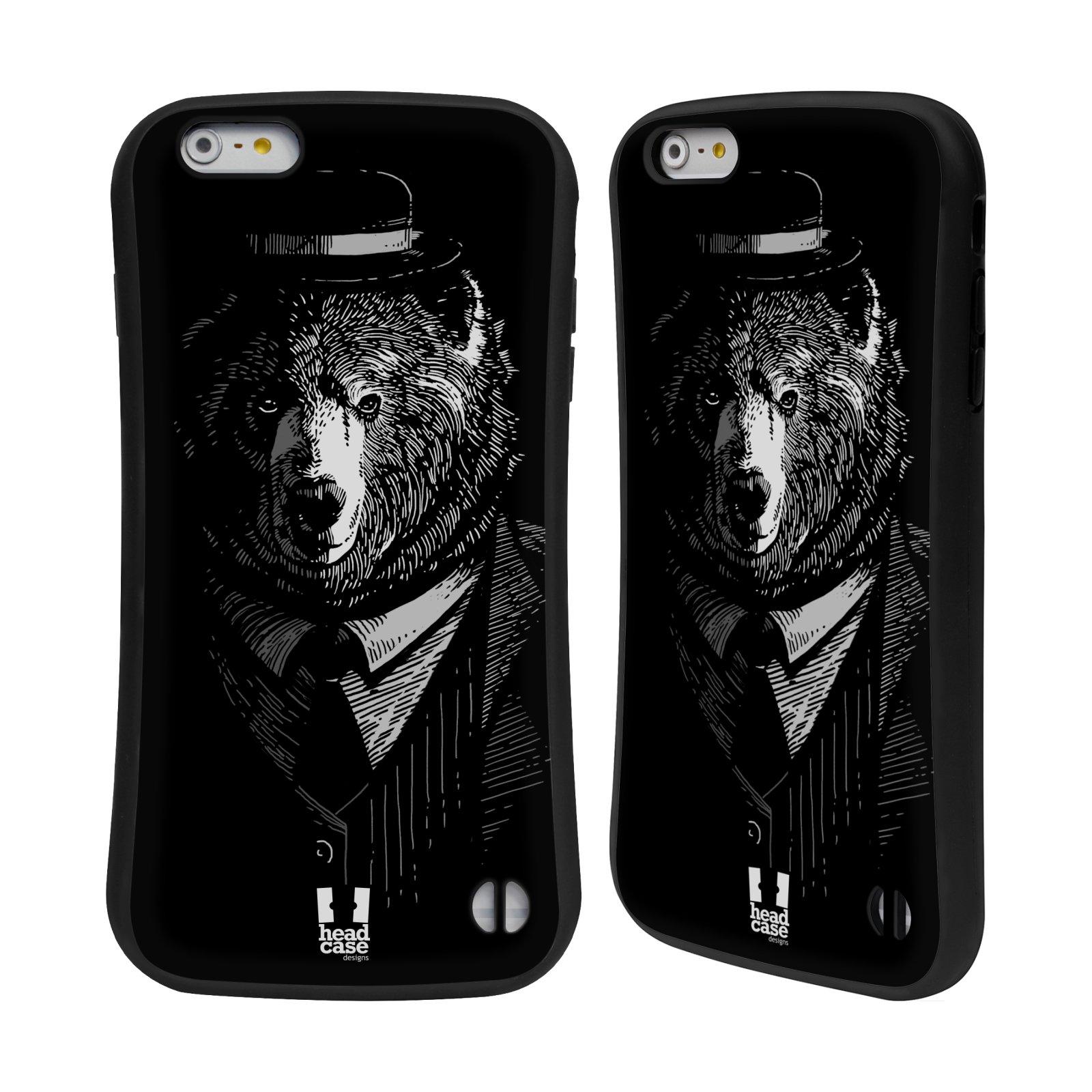HEAD CASE silikon/plast odolný obal na mobil Apple Iphone 6 PLUS / 6S PLUS vzor Zvíře v obleku medvěd