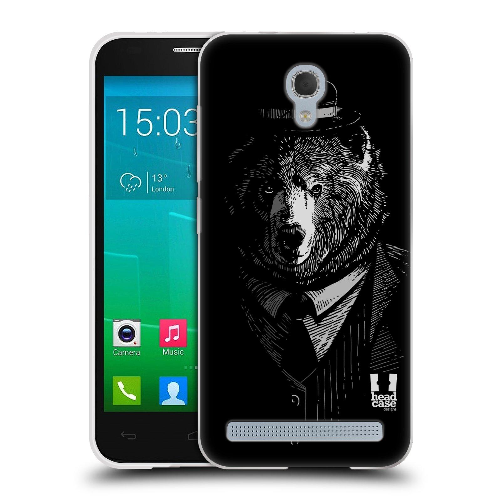 HEAD CASE silikonový obal na mobil Alcatel Idol 2 MINI S 6036Y vzor Zvíře v obleku medvěd