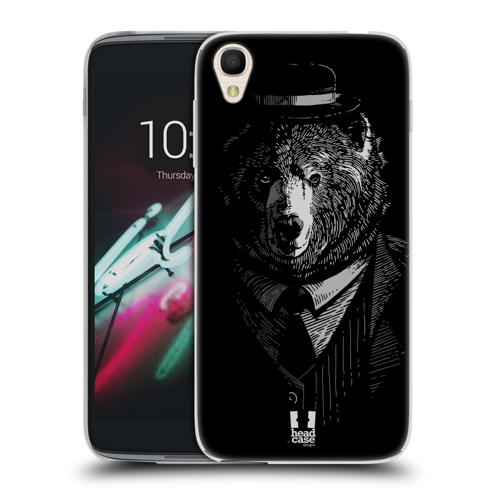 HEAD CASE silikonový obal na mobil Alcatel Idol 3 OT-6039Y (4.7) vzor Zvíře v obleku medvěd