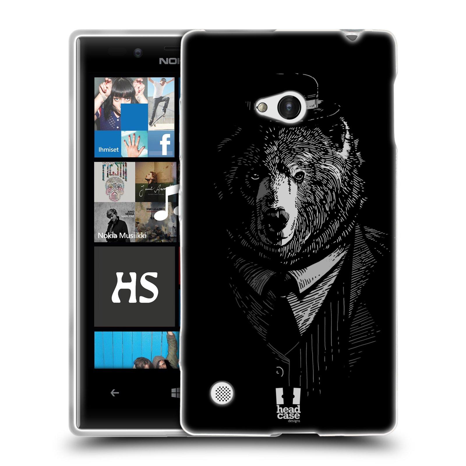 HEAD CASE silikonový obal na mobil NOKIA Lumia 720 vzor Zvíře v obleku medvěd