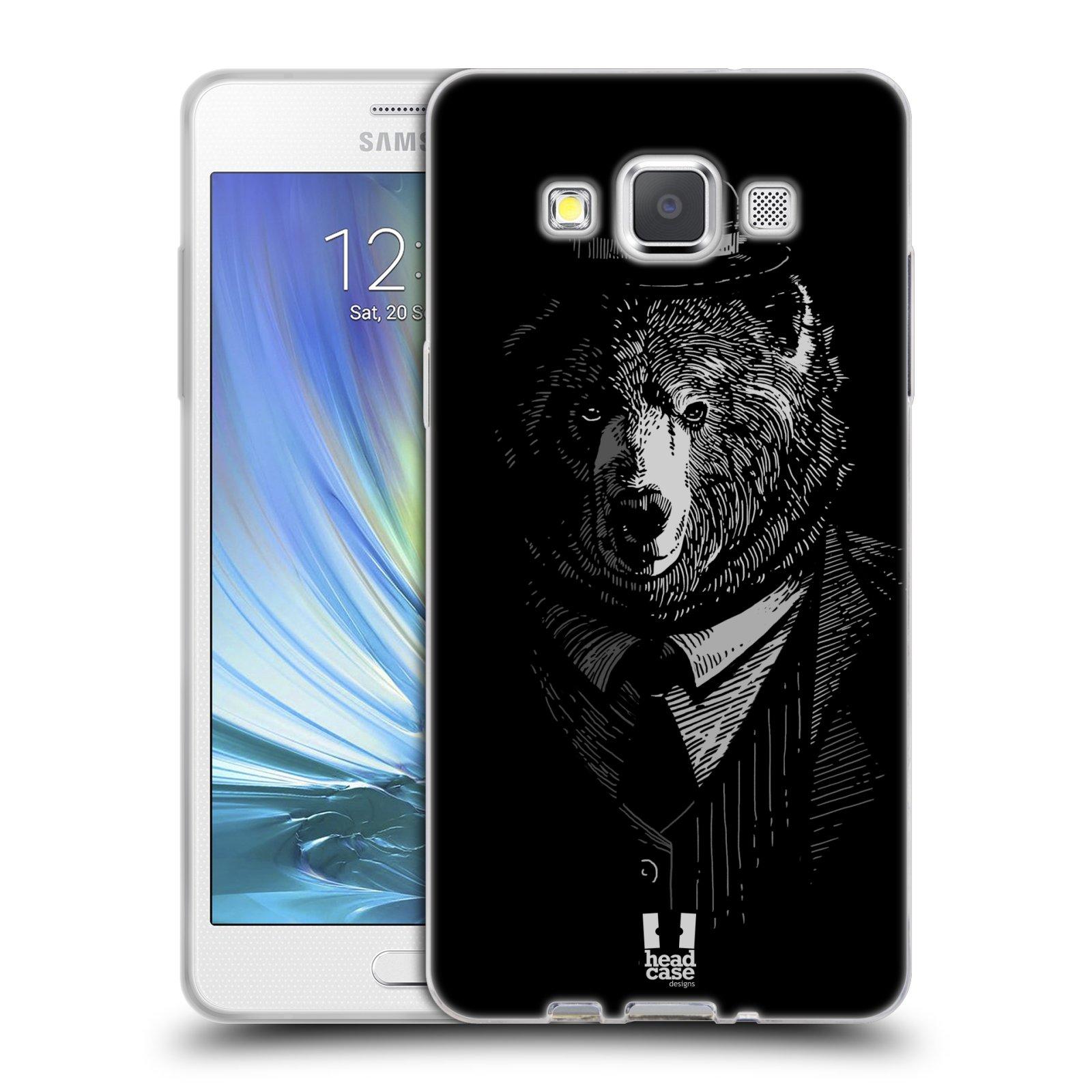 HEAD CASE silikonový obal na mobil Samsung Galaxy A5 vzor Zvíře v obleku medvěd