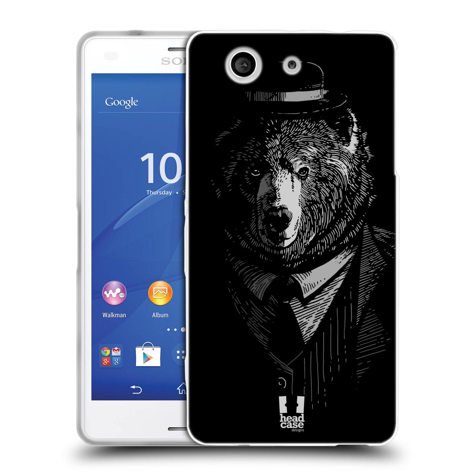 HEAD CASE silikonový obal na mobil Sony Xperia Z3 COMPACT (D5803) vzor Zvíře v obleku medvěd