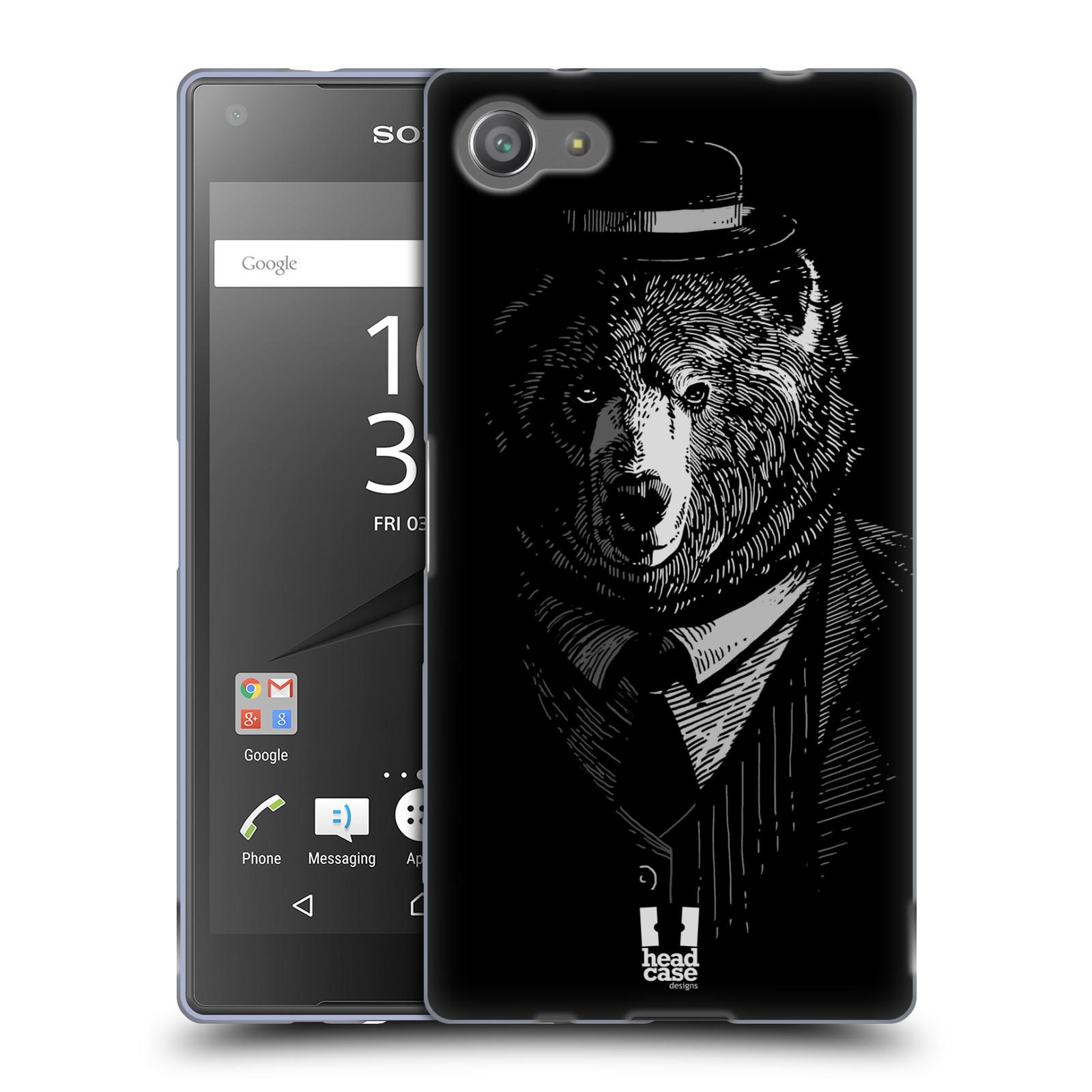 HEAD CASE silikonový obal na mobil Sony Xperia Z5 COMPACT vzor Zvíře v obleku medvěd