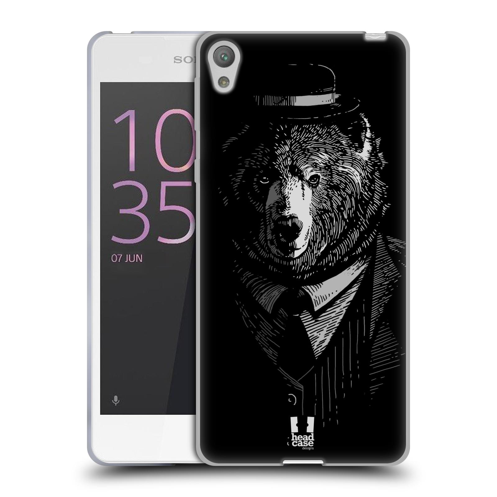 HEAD CASE silikonový obal na mobil SONY XPERIA E5 vzor Zvíře v obleku medvěd