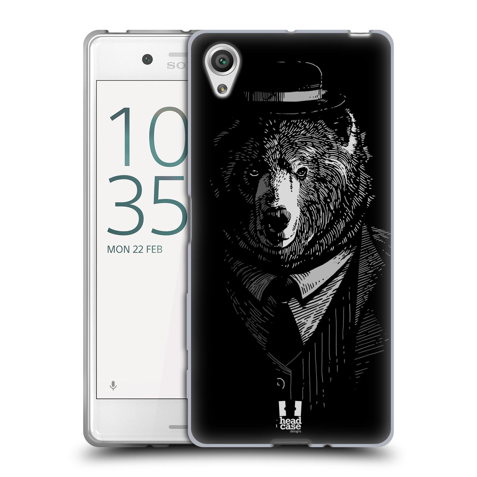 HEAD CASE silikonový obal na mobil Sony Xperia X / X DUAL vzor Zvíře v obleku medvěd