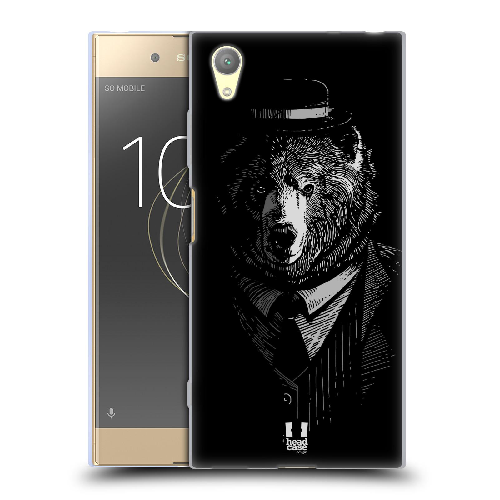 HEAD CASE silikonový obal na mobil Sony Xperia XA1 PLUS vzor Zvíře v obleku medvěd