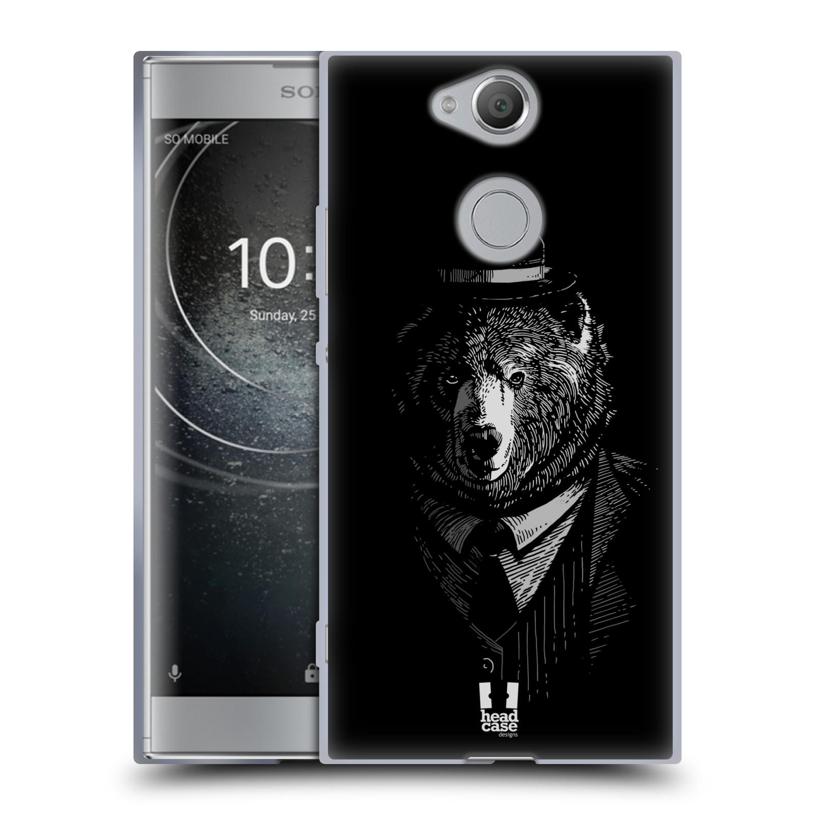 Pouzdro na mobil Sony Xperia XA2 (DUAL SIM, SINGLE SIM) vzor Zvíře v obleku medvěd