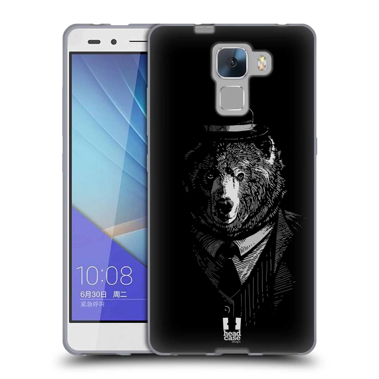 HEAD CASE silikonový obal na mobil HUAWEI HONOR 7 vzor Zvíře v obleku medvěd