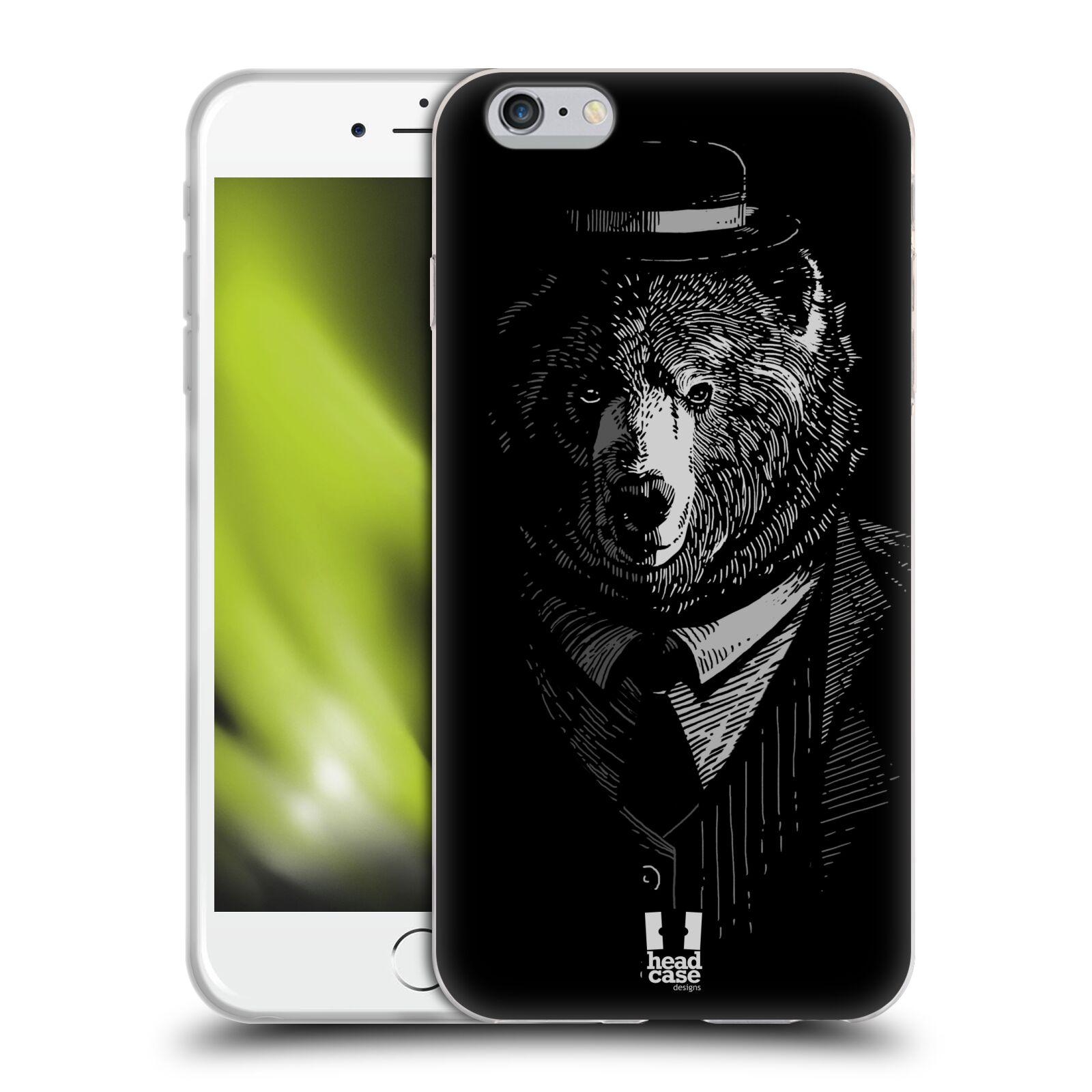 HEAD CASE silikonový obal na mobil Apple Iphone 6 PLUS/ 6S PLUS vzor Zvíře v obleku medvěd