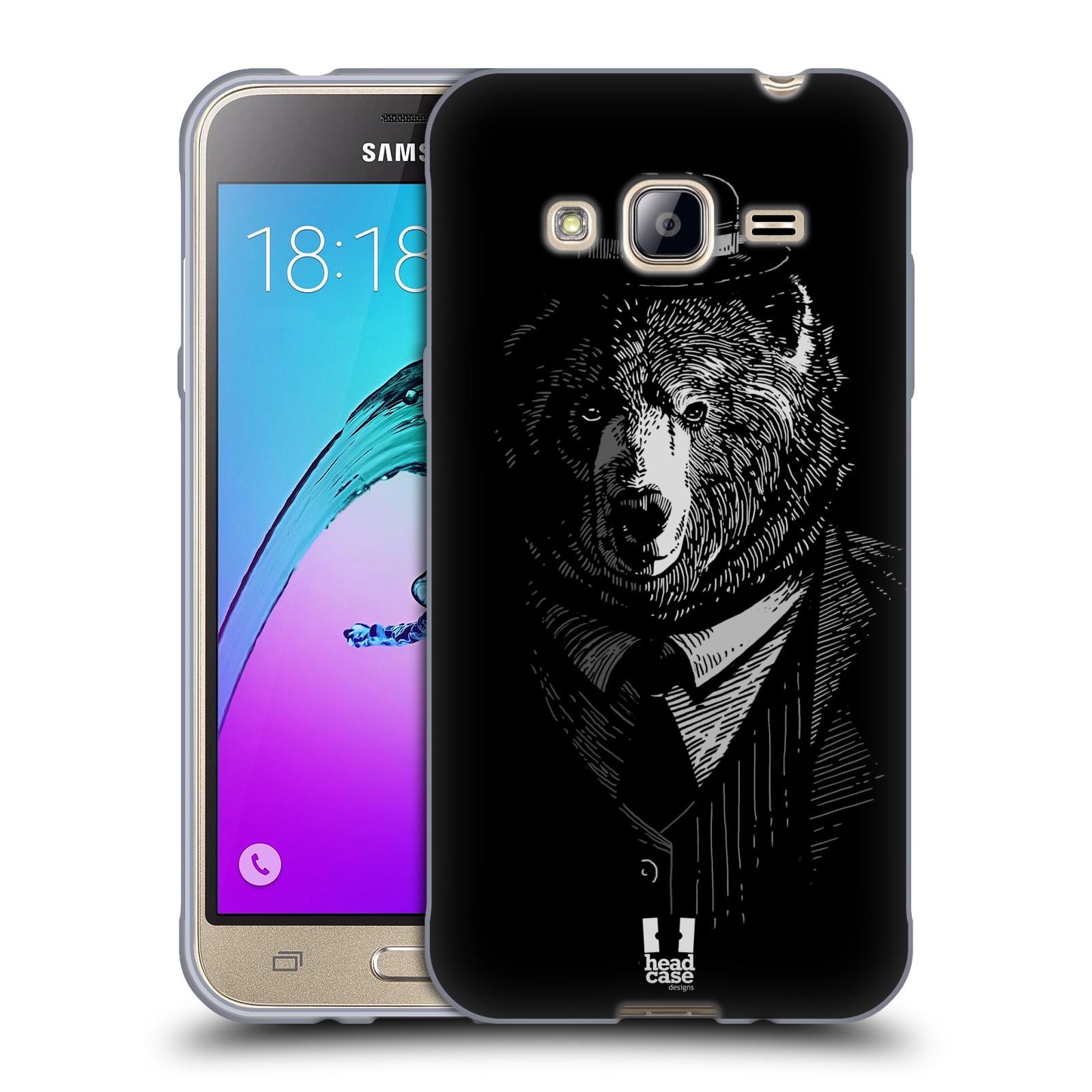 HEAD CASE silikonový obal na mobil Samsung Galaxy J3, J3 2016 vzor Zvíře v obleku medvěd