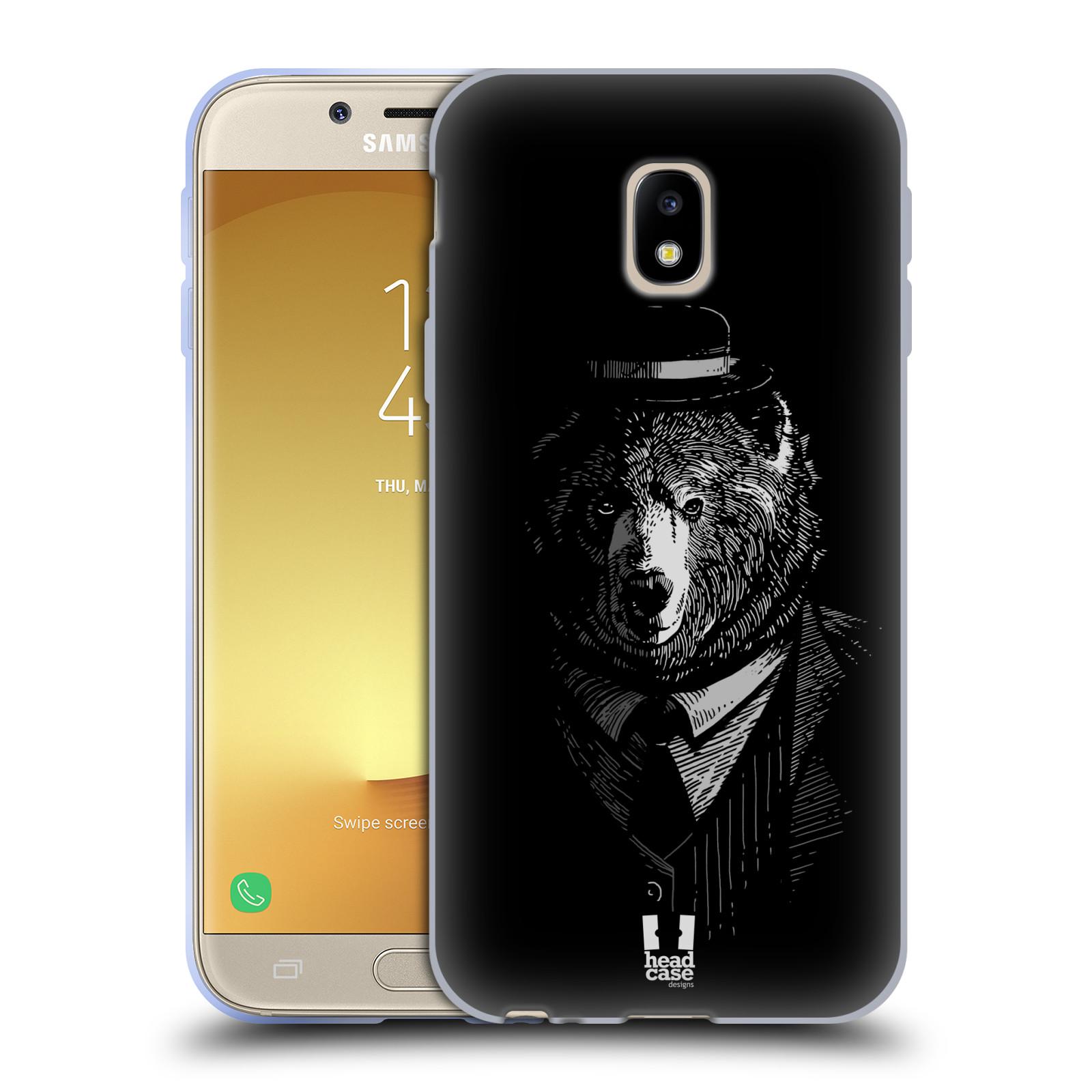 HEAD CASE silikonový obal na mobil Samsung Galaxy J3 2017 vzor Zvíře v obleku medvěd