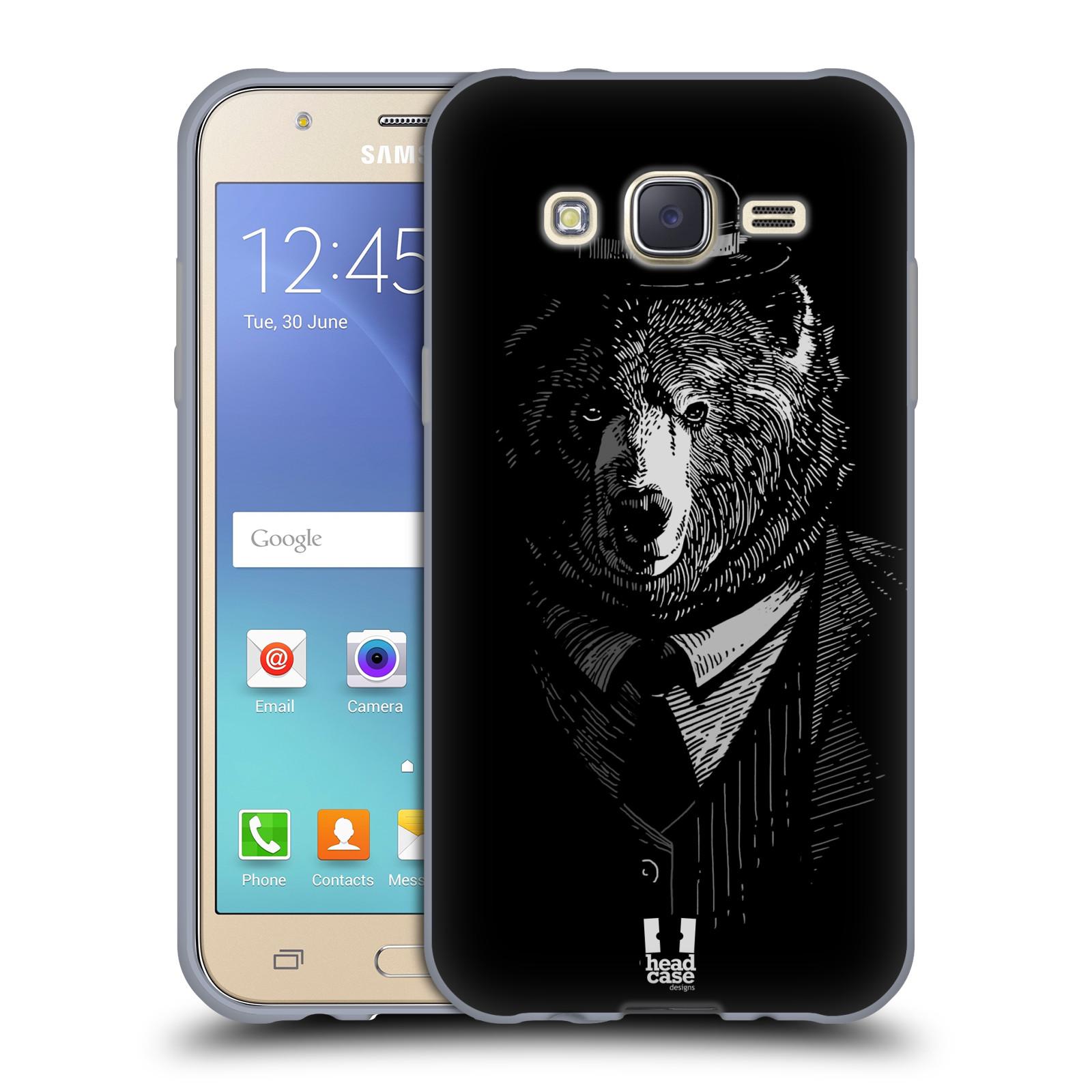 HEAD CASE silikonový obal na mobil Samsung Galaxy J5, J500, (J5 DUOS) vzor Zvíře v obleku medvěd