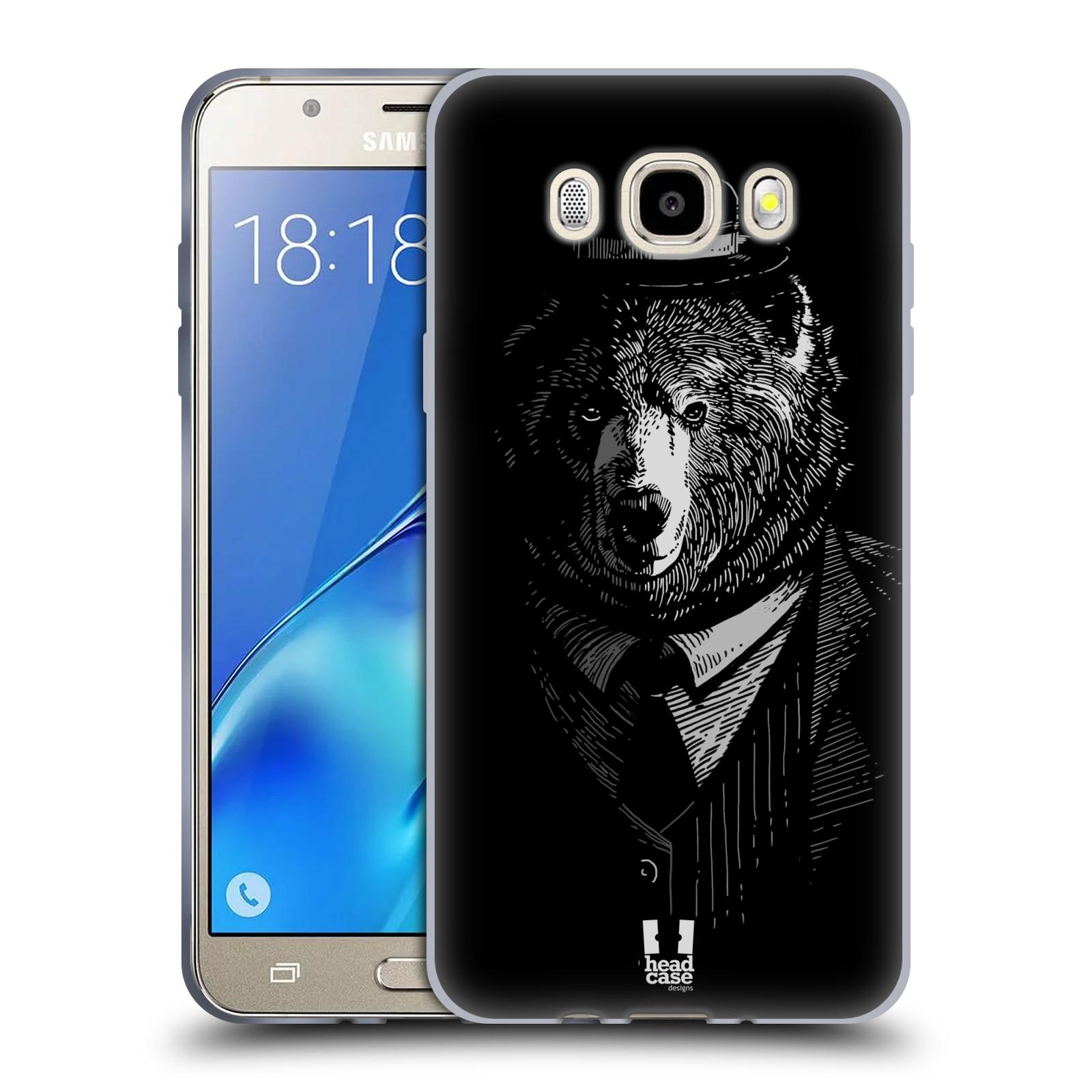HEAD CASE silikonový obal, kryt na mobil Samsung Galaxy J5 2016, J510, J510F, (J510F DUAL SIM) vzor Zvíře v obleku medvěd