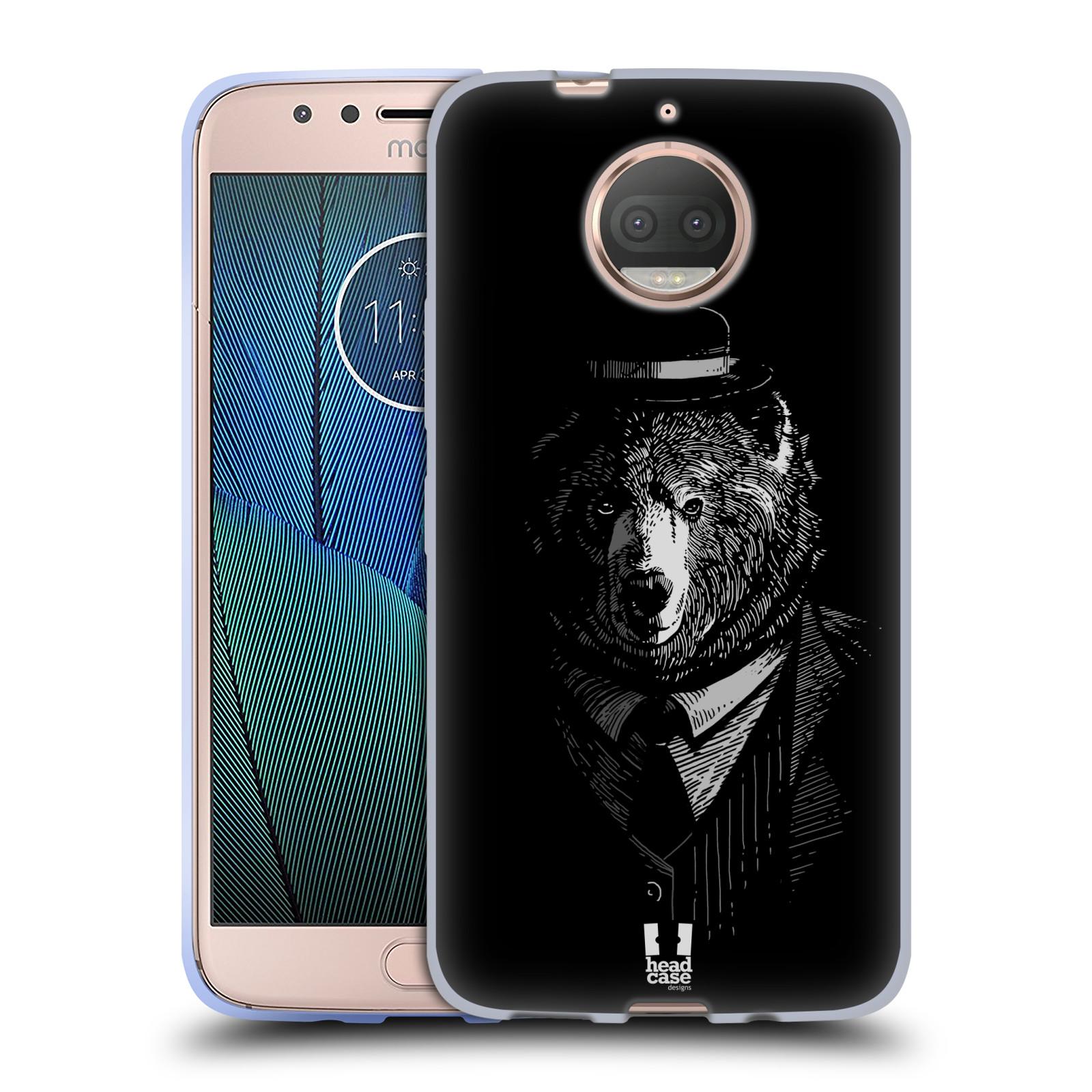 HEAD CASE silikonový obal na mobil Lenovo Moto G5s PLUS vzor Zvíře v obleku medvěd