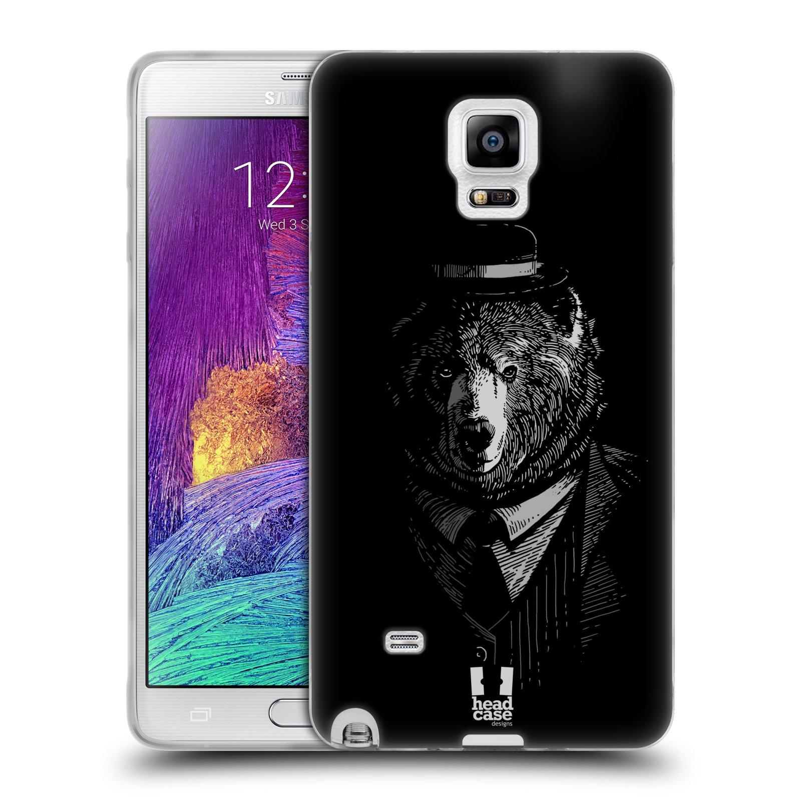 HEAD CASE silikonový obal na mobil Samsung Galaxy Note 4 (N910) vzor Zvíře v obleku medvěd