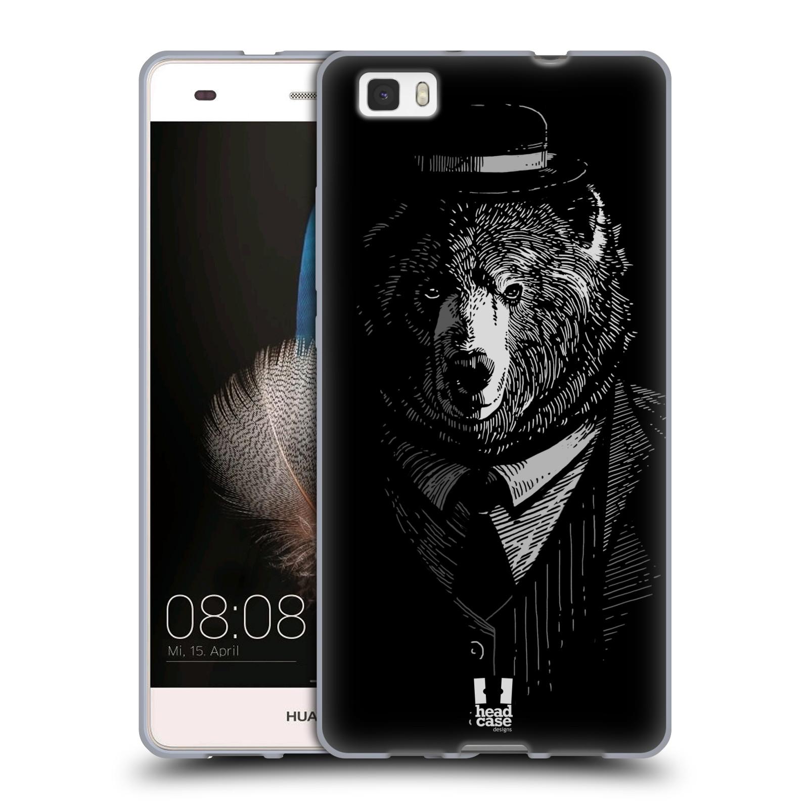 HEAD CASE silikonový obal na mobil HUAWEI P8 LITE vzor Zvíře v obleku medvěd
