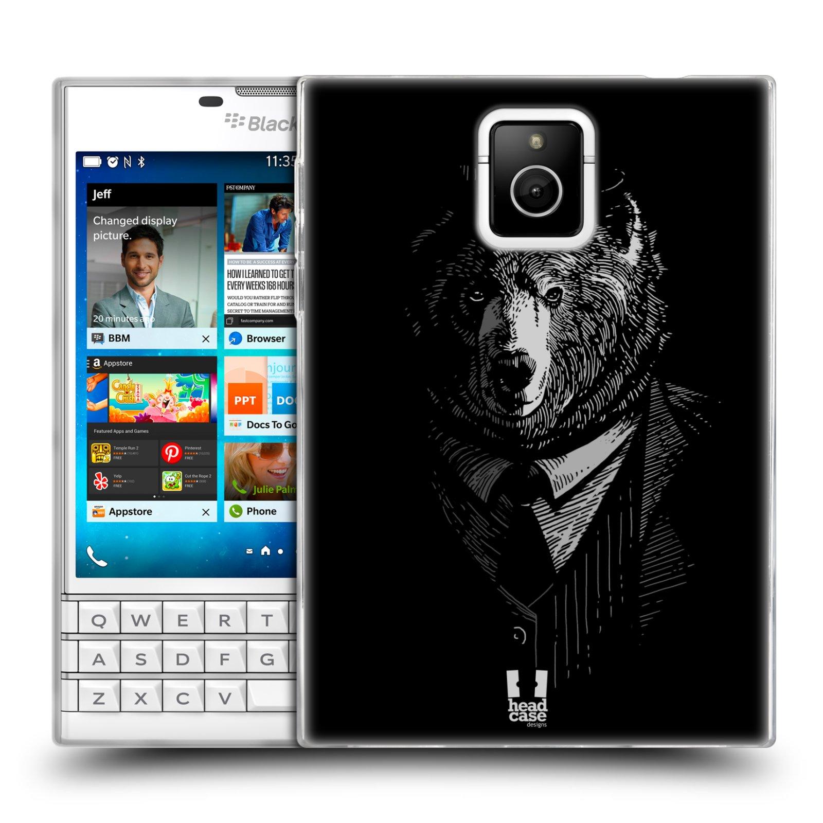 HEAD CASE silikonový obal na mobil Blackberry PASSPORT vzor Zvíře v obleku medvěd