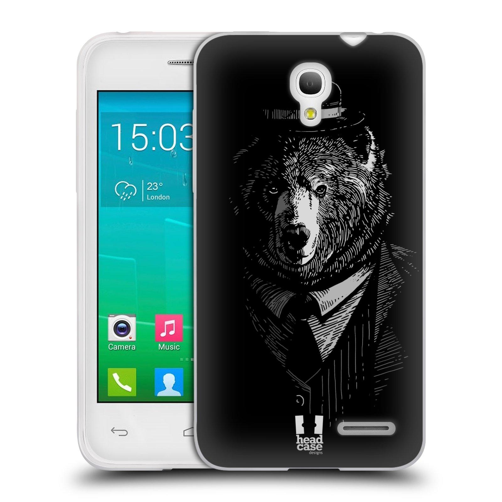 HEAD CASE silikonový obal na mobil Alcatel POP S3 OT-5050Y vzor Zvíře v obleku medvěd