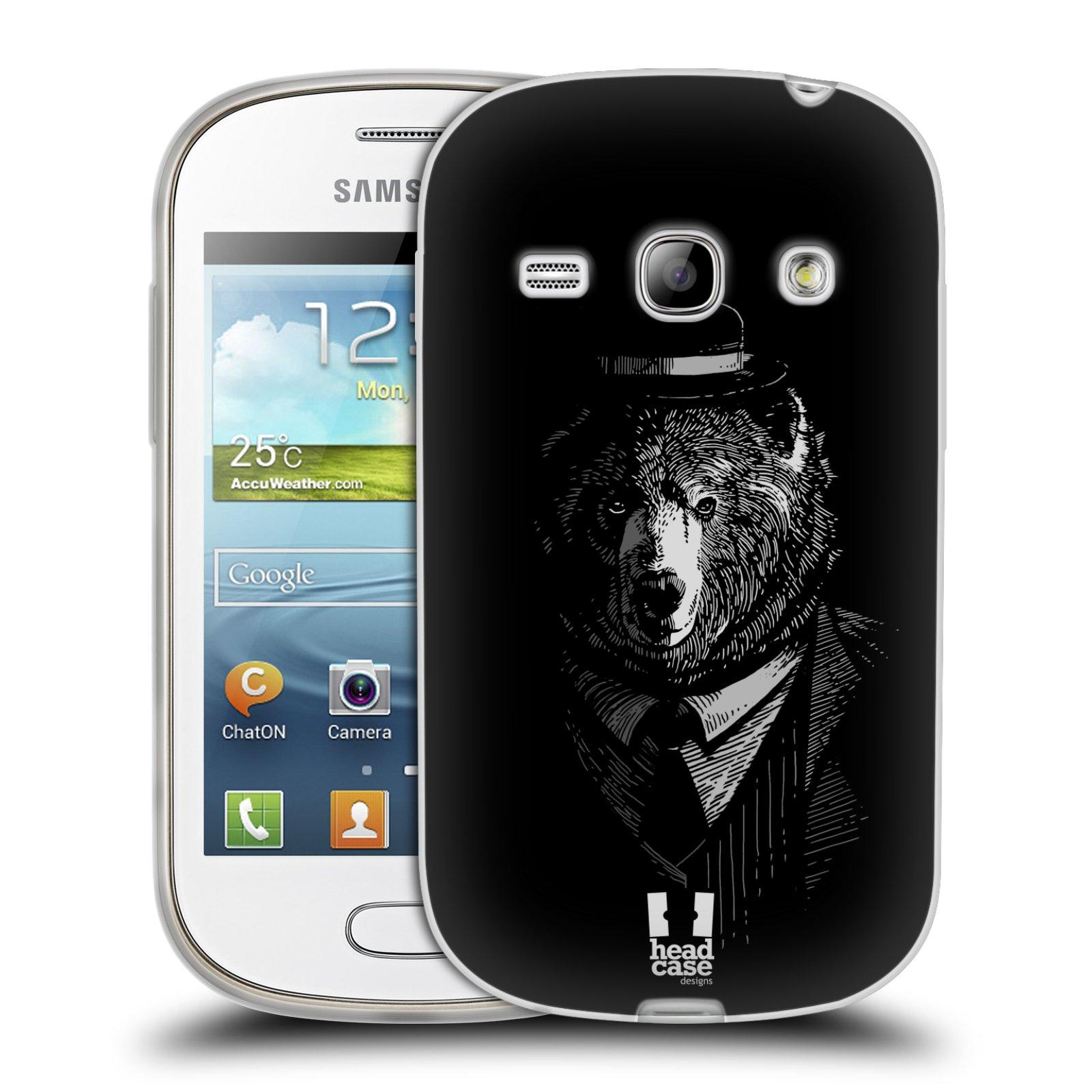 HEAD CASE silikonový obal na mobil Samsung Galaxy FAME vzor Zvíře v obleku medvěd