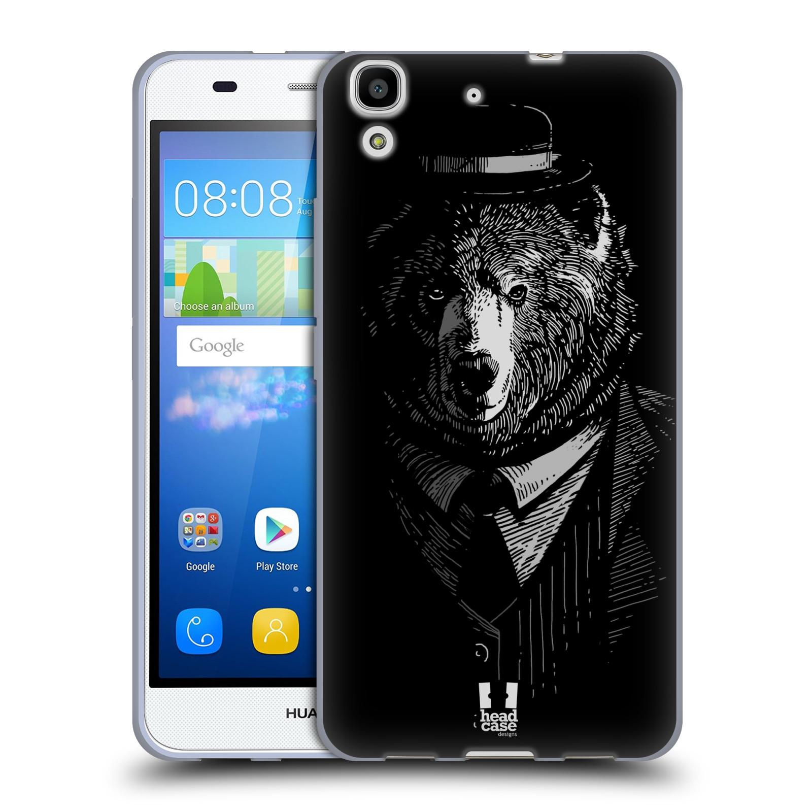 HEAD CASE silikonový obal na mobil HUAWEI Y6 vzor Zvíře v obleku medvěd
