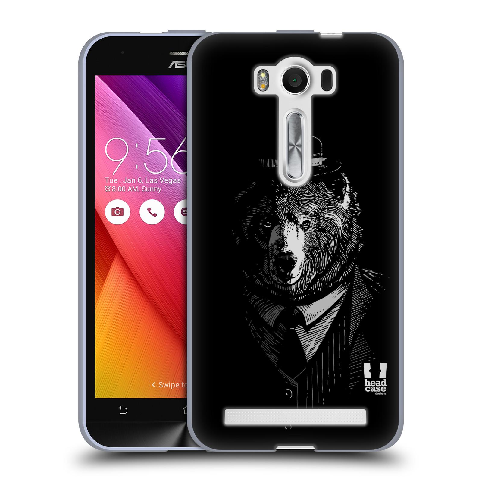 "HEAD CASE silikonový obal na mobil Asus Zenfone 2 LASER (ZE500KL s 5"" displejem) vzor Zvíře v obleku medvěd"