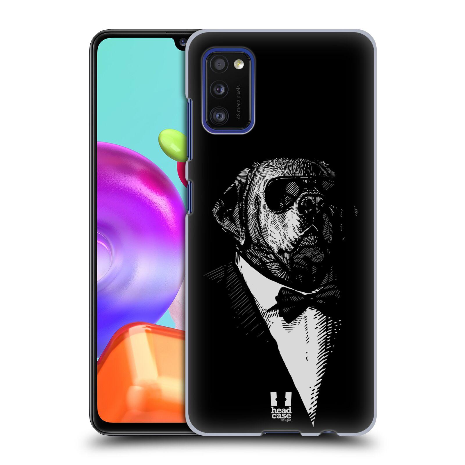 Zadní kryt na mobil Samsung Galaxy A41 vzor Zvíře v obleku pes