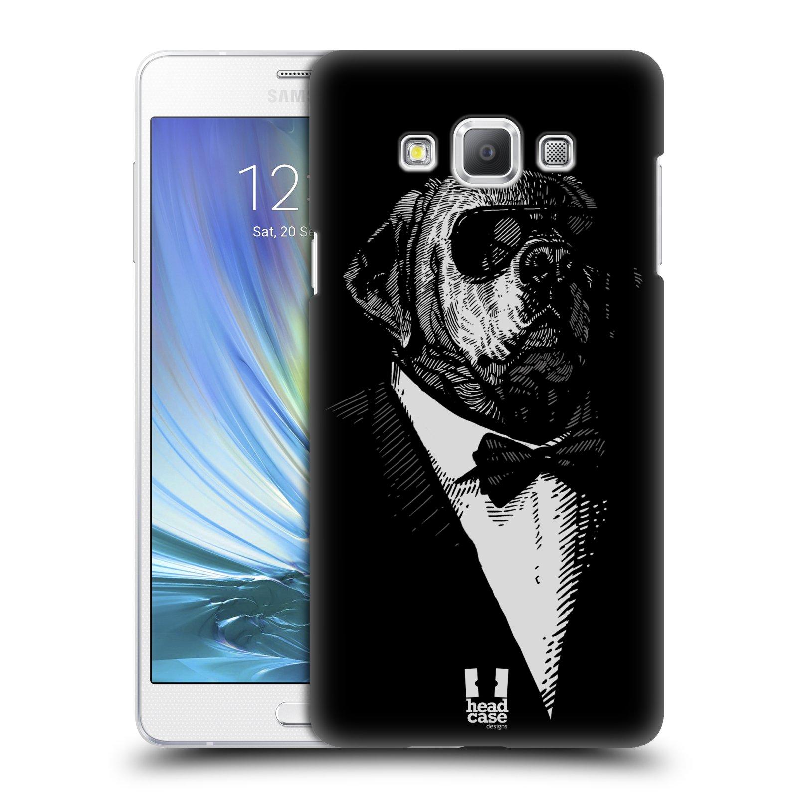 HEAD CASE plastový obal na mobil SAMSUNG GALAXY A7 vzor Zvíře v obleku pes