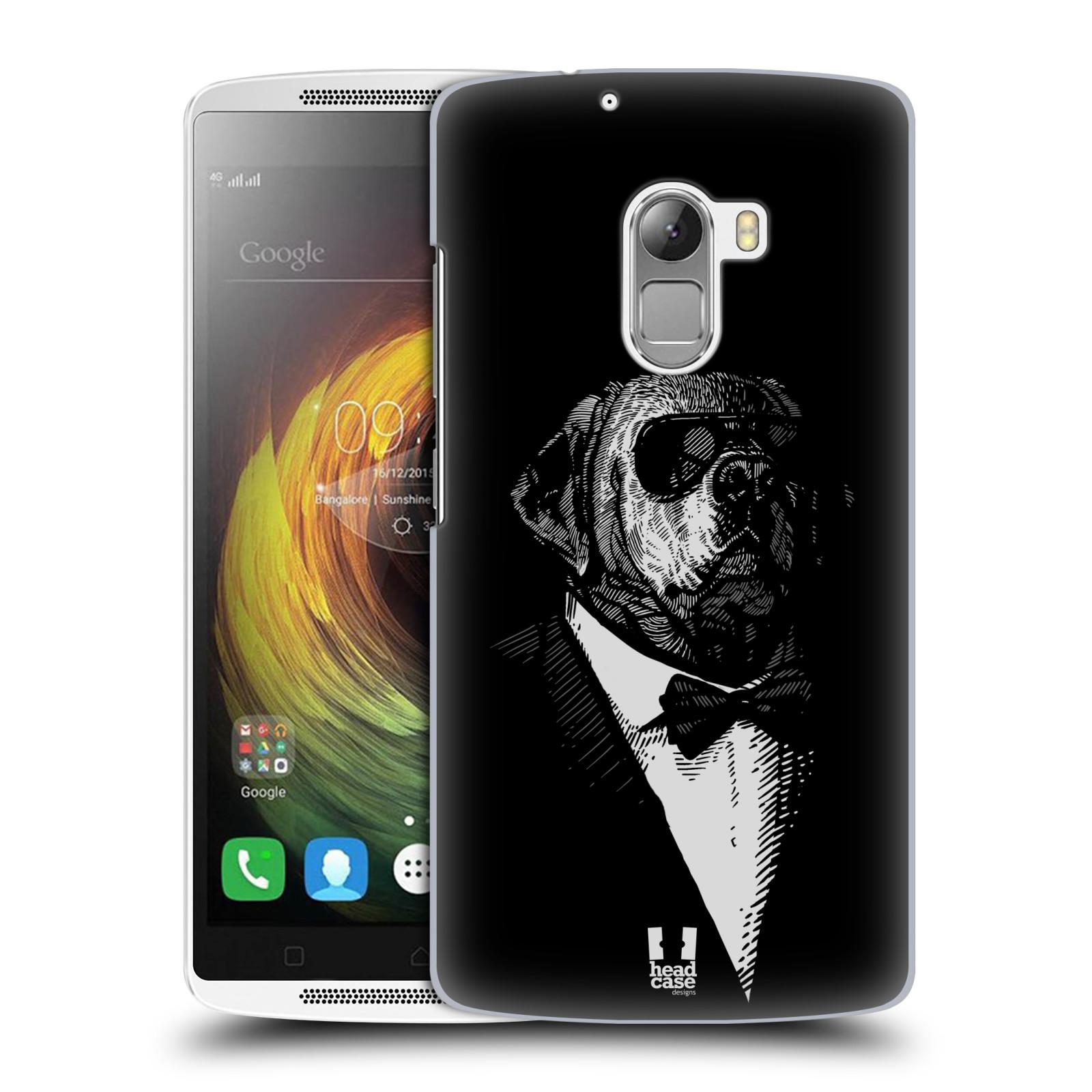 HEAD CASE pevný plastový obal na mobil LENOVO A7010 / A7010 DUAL / K4 Note / Vibe X3 lite vzor Zvíře v obleku pes