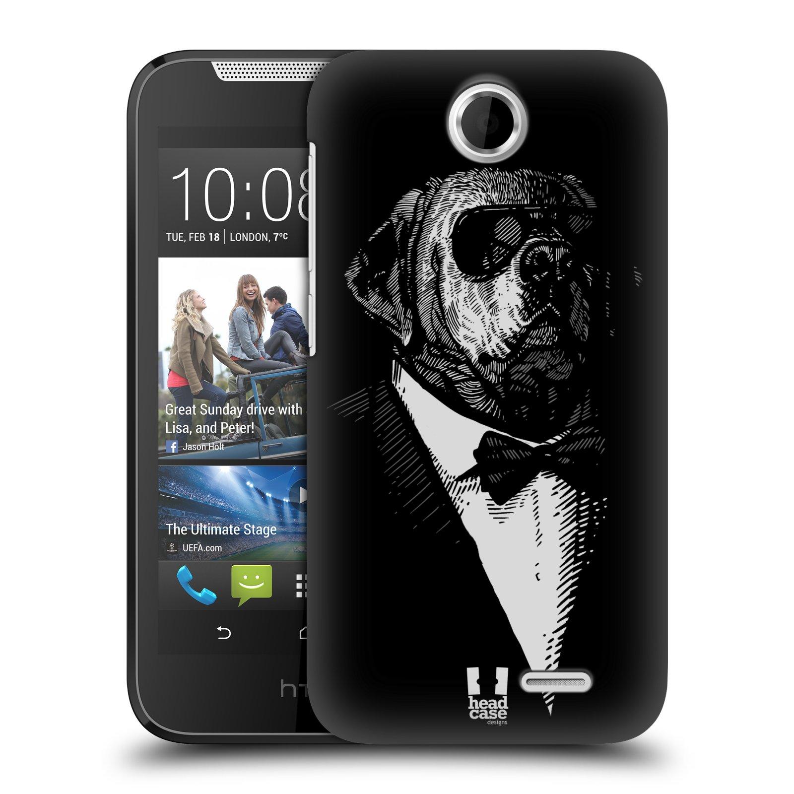 HEAD CASE plastový obal na mobil HTC Desire 310 vzor Zvíře v obleku pes
