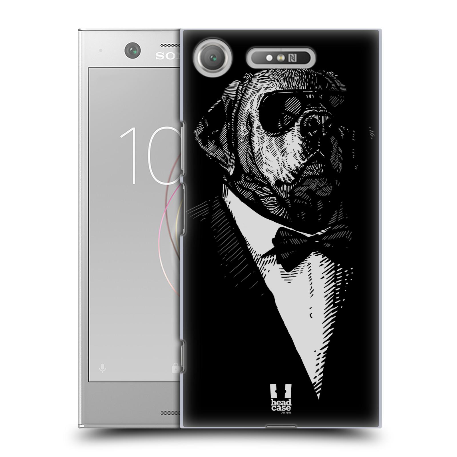 HEAD CASE plastový obal na mobil Sony Xperia XZ1 vzor Zvíře v obleku pes