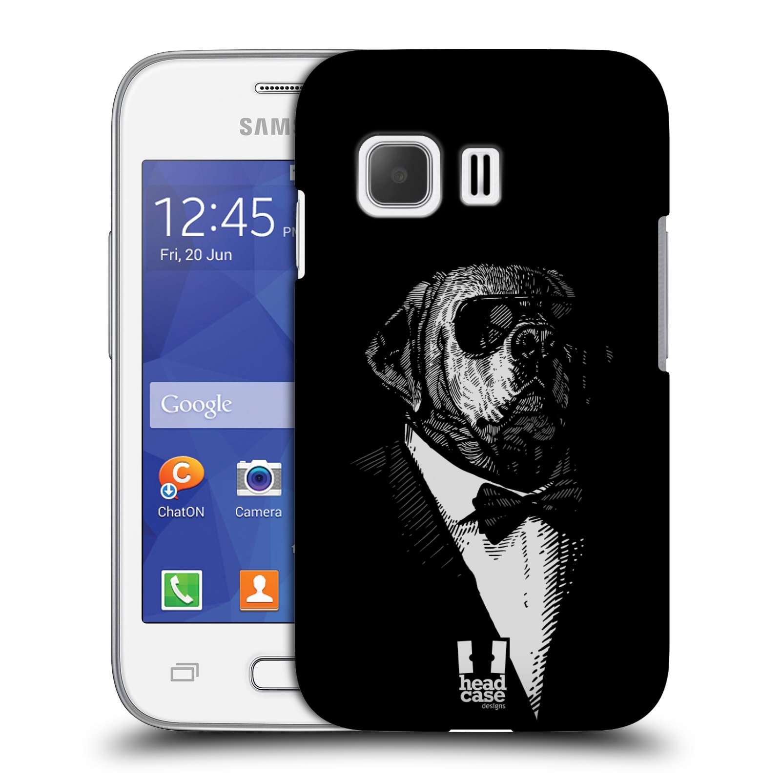 HEAD CASE plastový obal na mobil SAMSUNG Galaxy Young 2 (G130) vzor Zvíře v obleku pes
