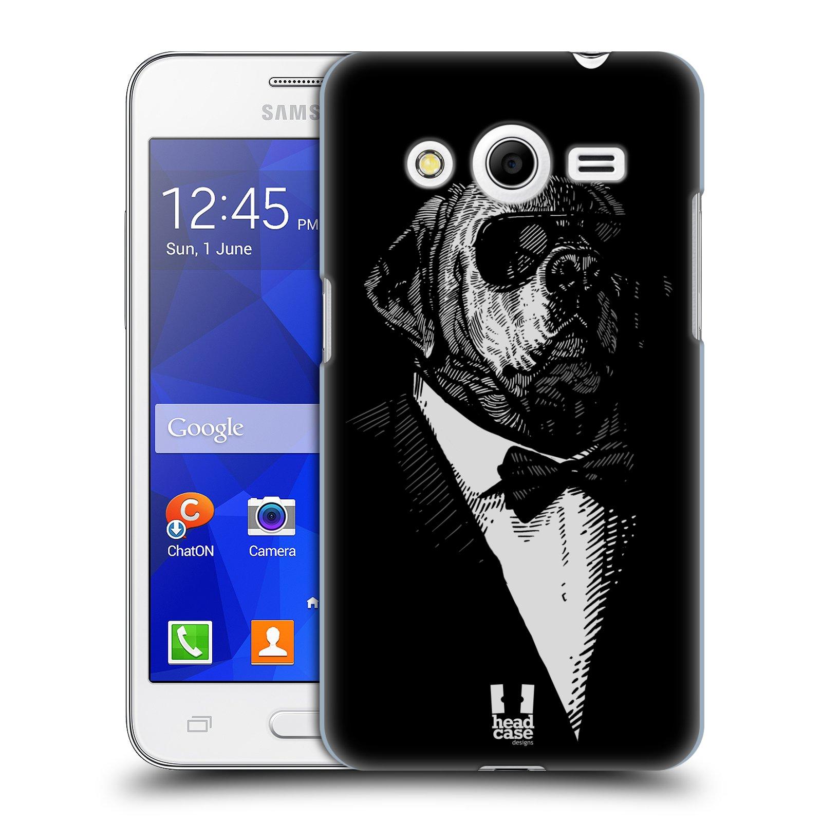 HEAD CASE plastový obal na mobil SAMSUNG GALAXY Core 2 (G355H) vzor Zvíře v obleku pes