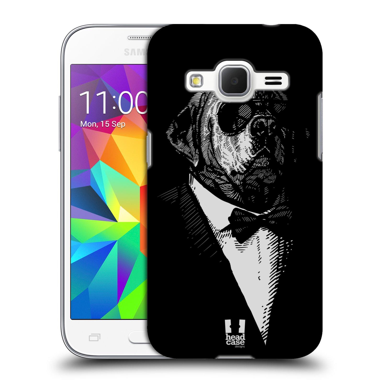 HEAD CASE plastový obal na mobil SAMSUNG GALAXY Core Prime (Core Prime VE) vzor Zvíře v obleku pes